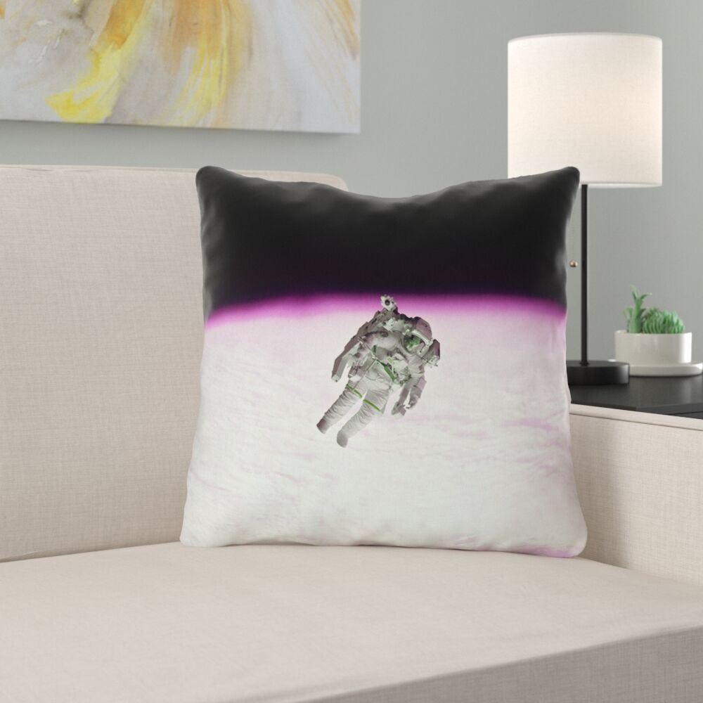Hansard Astronaut Throw Pillow with Zipper Size: 18