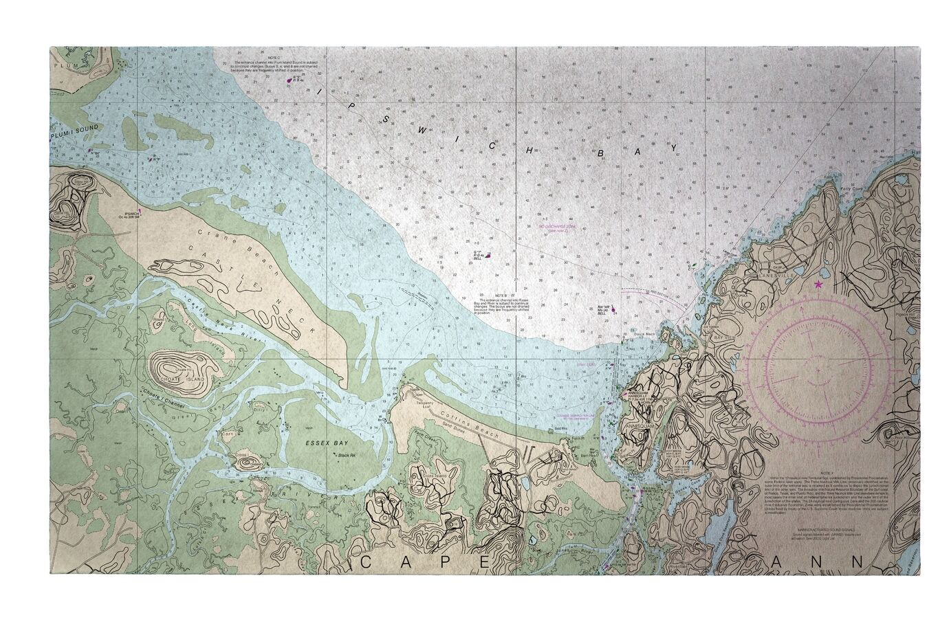 Essex Bay and Essex River MA Doormat Mat Size: Rectangle 2'6