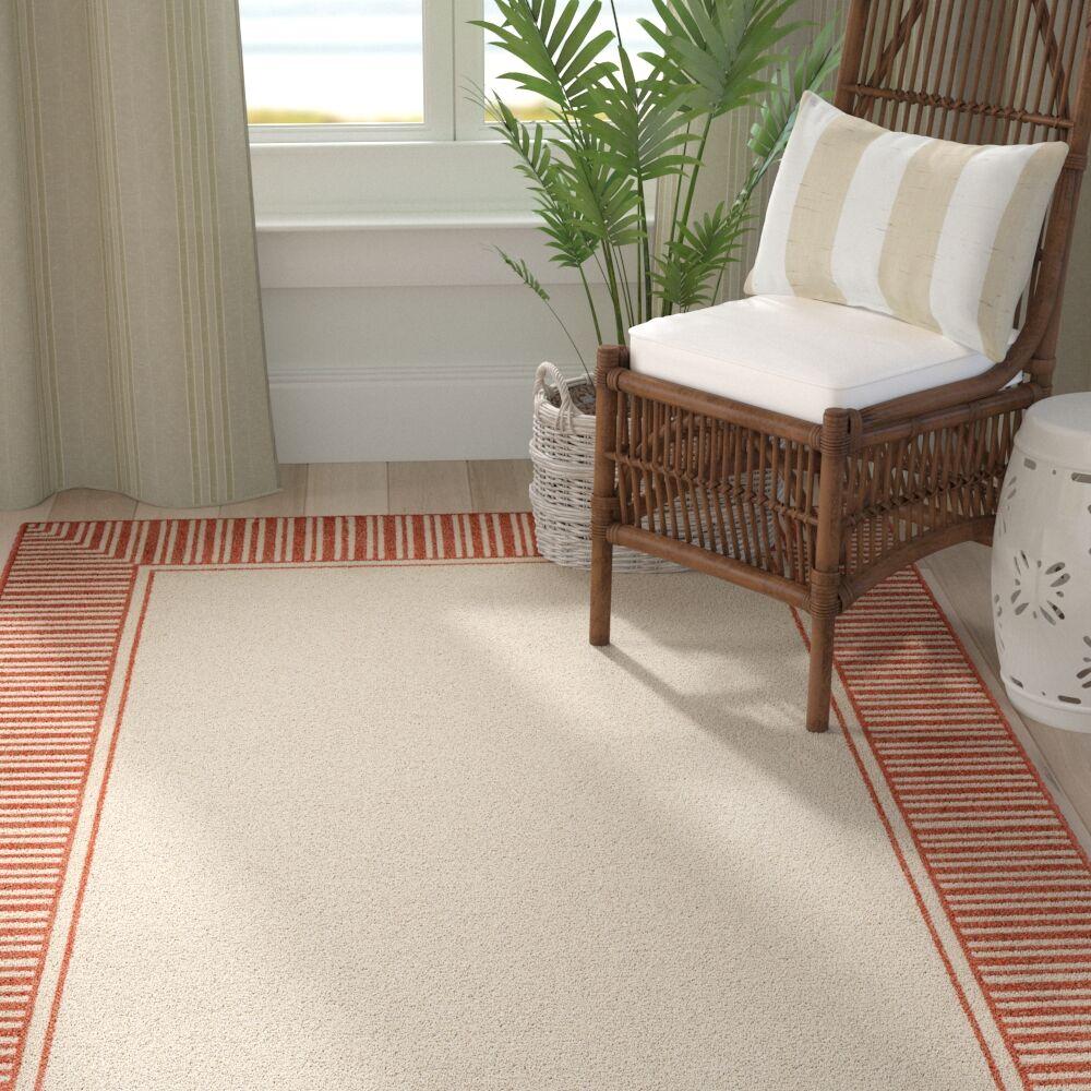 Oliver Burnt Orange/Cream Indoor/Outdoor Area Rug Rug Size: Rectangle 8'9