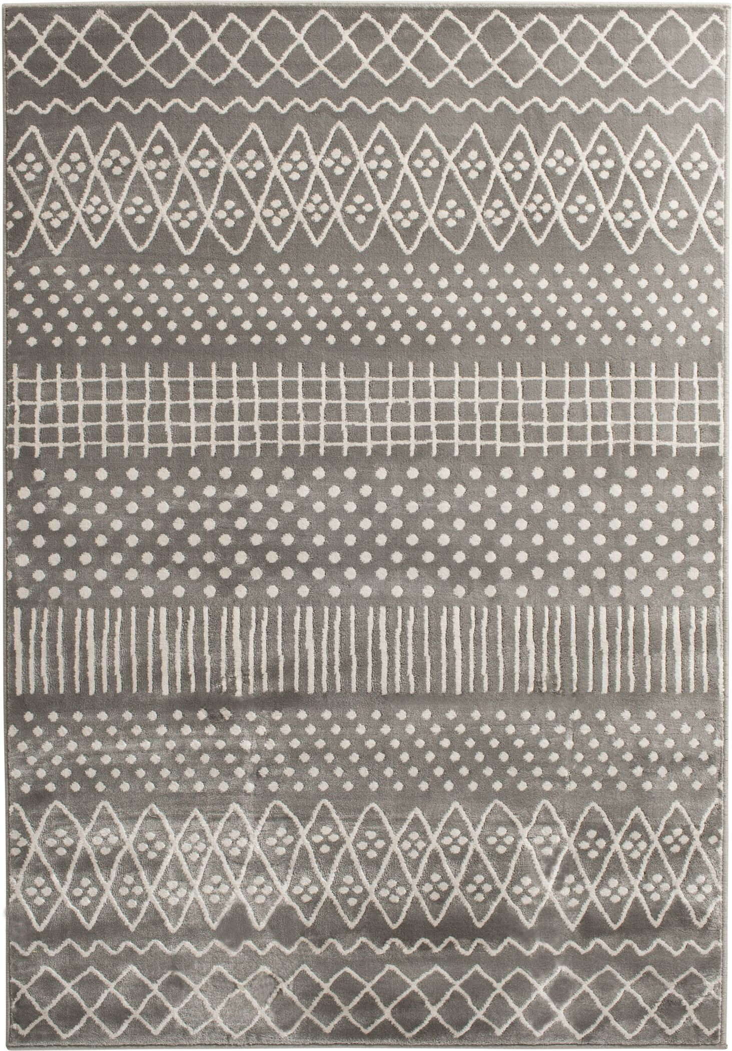 Santana Gray Area Rug Rug Size: Rectangle 5' x 7'6