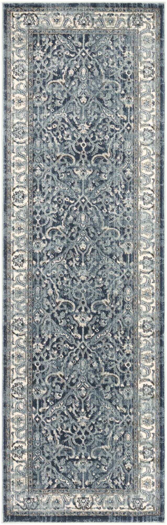 Mablethorpe Distressed Navy/Gray Area Rug