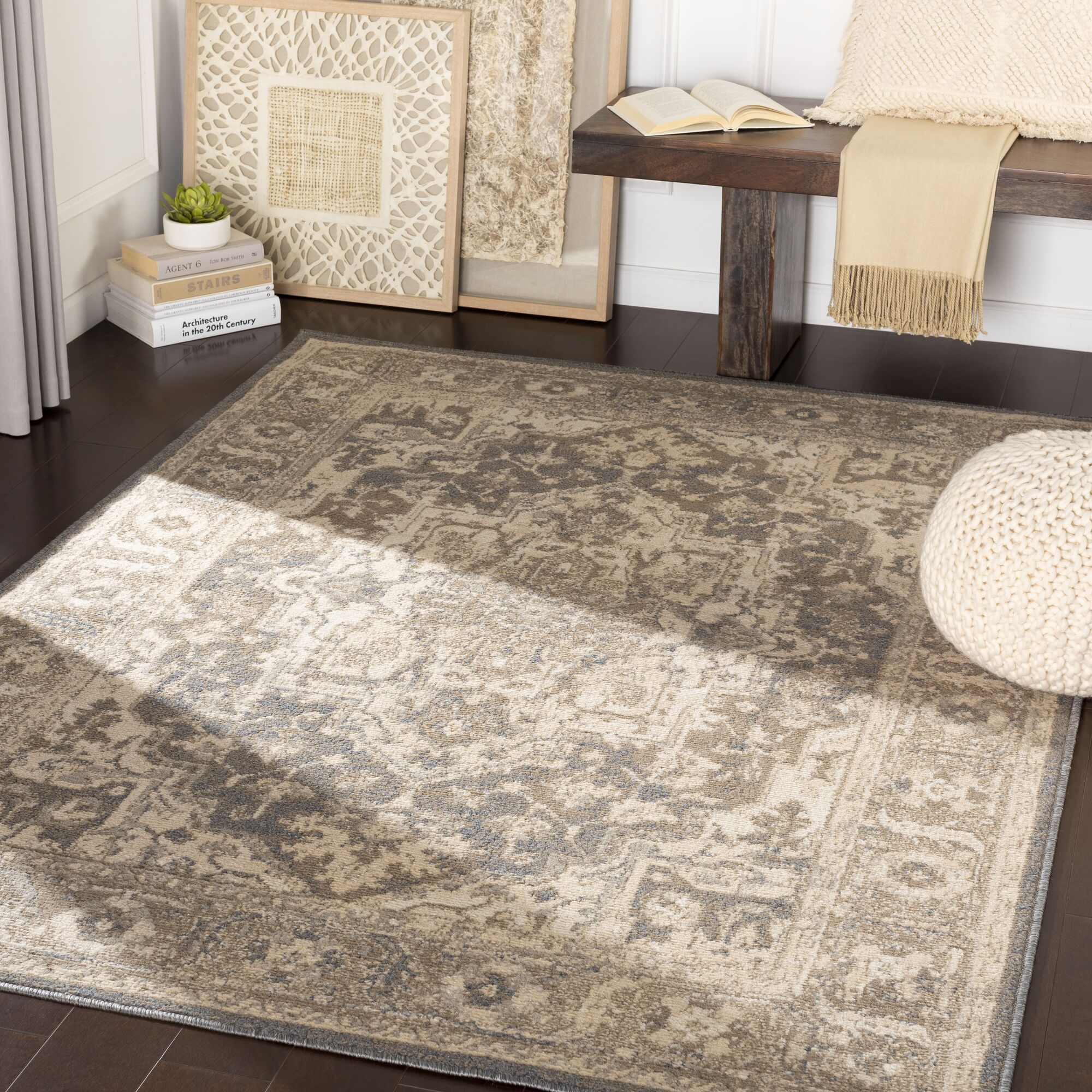 Maidenhead Charcoal/Camel Area Rug Rug Size: Rectangle 7'10