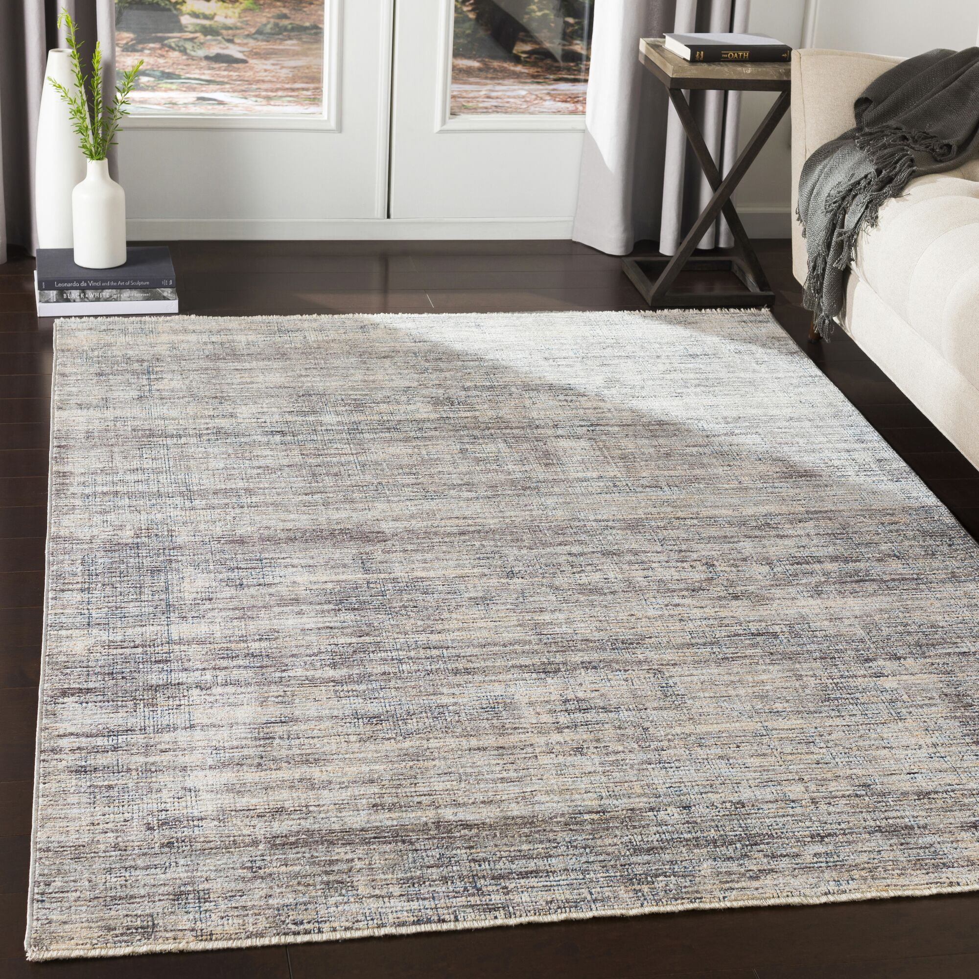 Mckeel Distressed Abstract Gray/Charcoal Area Rug Rug Size: Rectangle 9' x 13'1