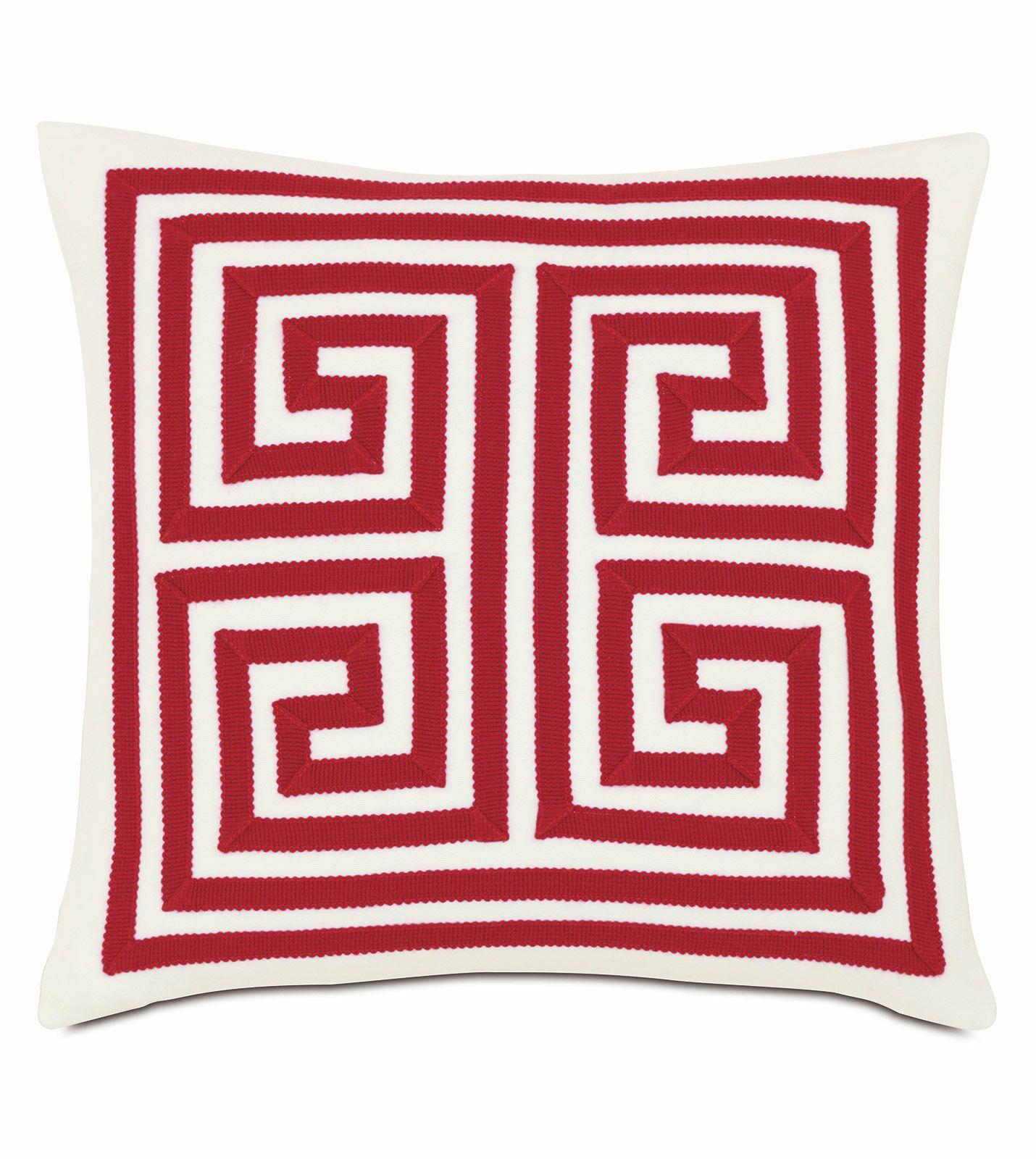 Studio 773 Indoor/Outdoor Throw Pillow Color: Red