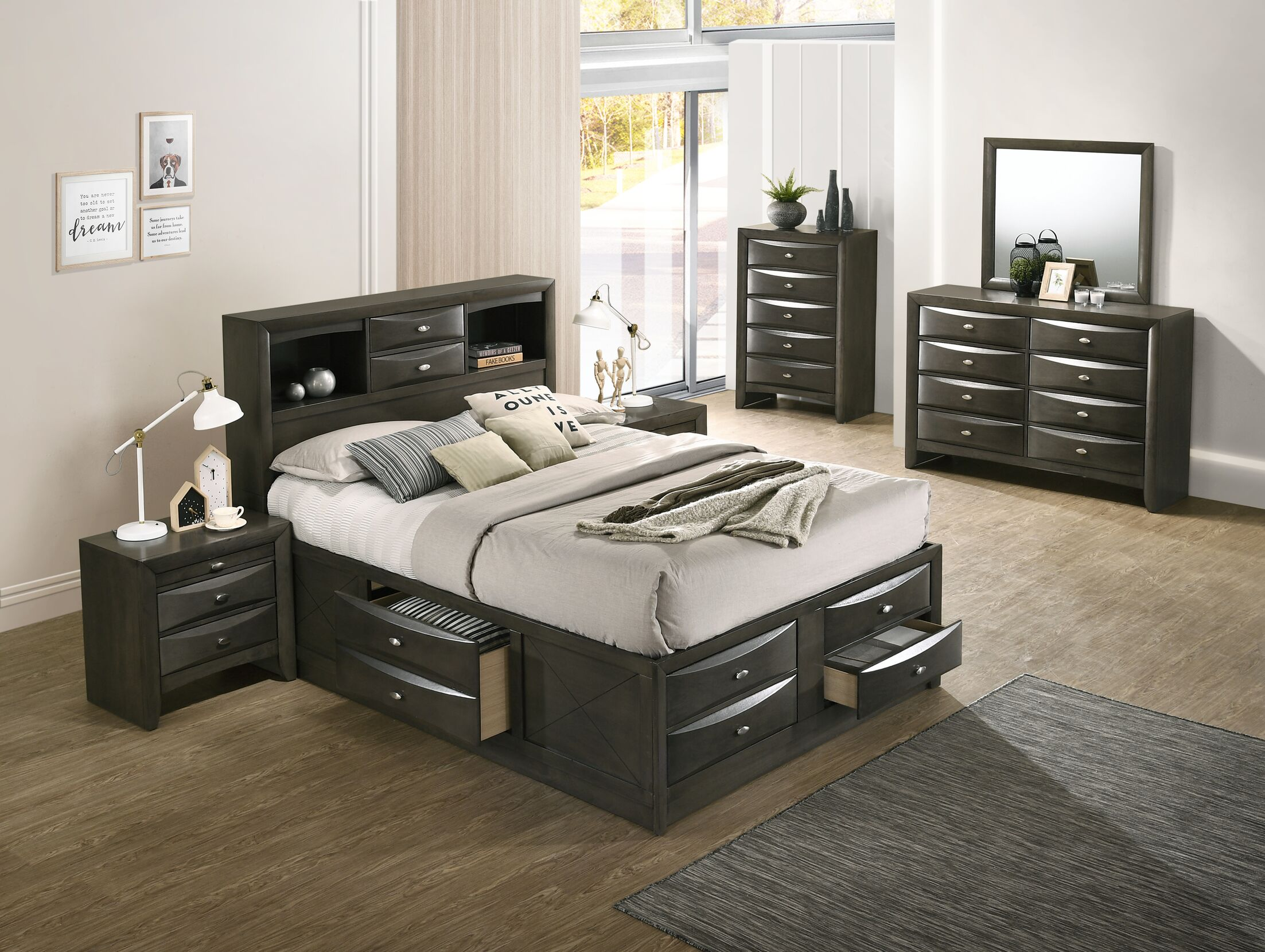 Carle Platform 4 Piece Bedroom Set Size: Queen