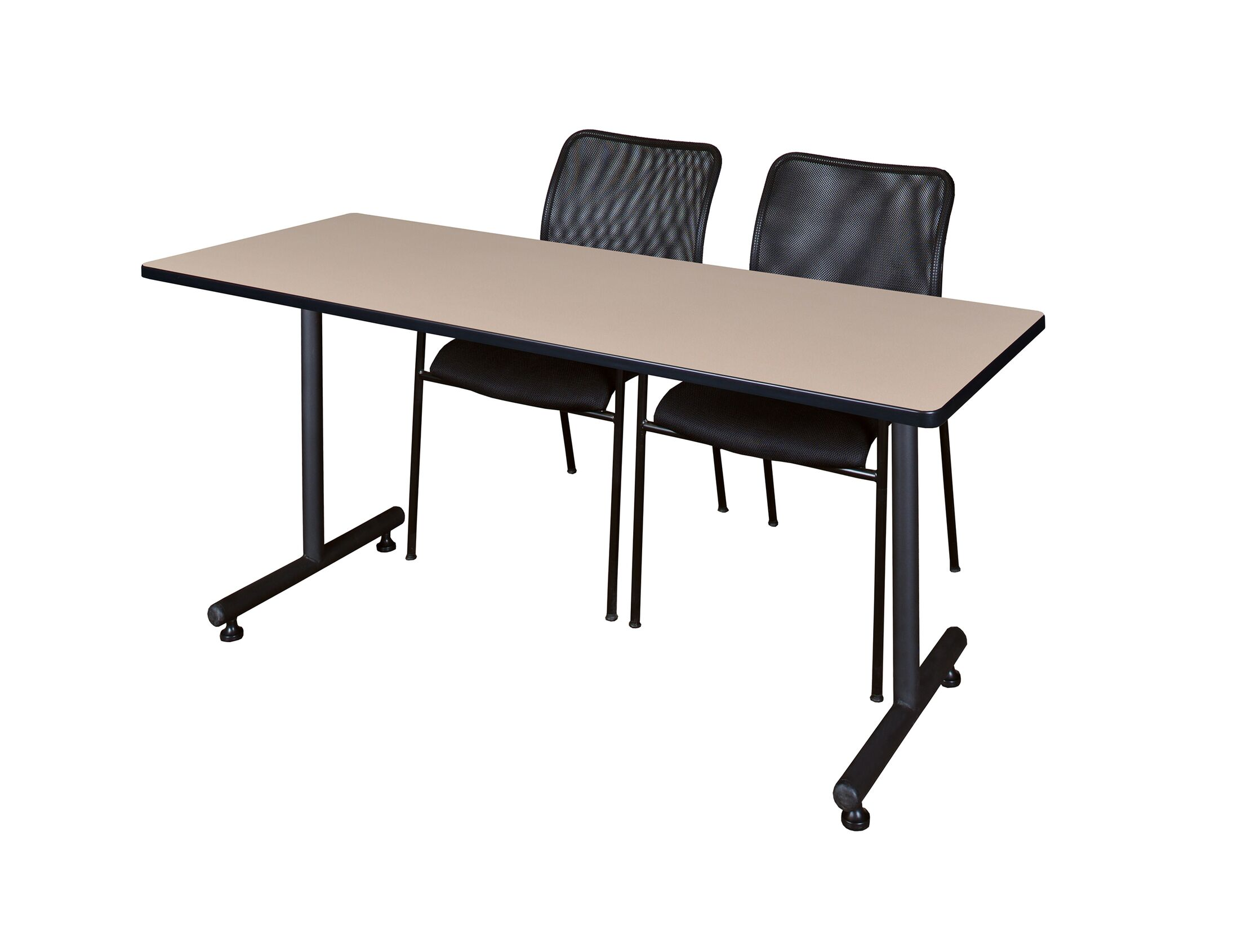 Marin Training Table with Wheels Tabletop Finish: Mocha Walnut, Size: 29