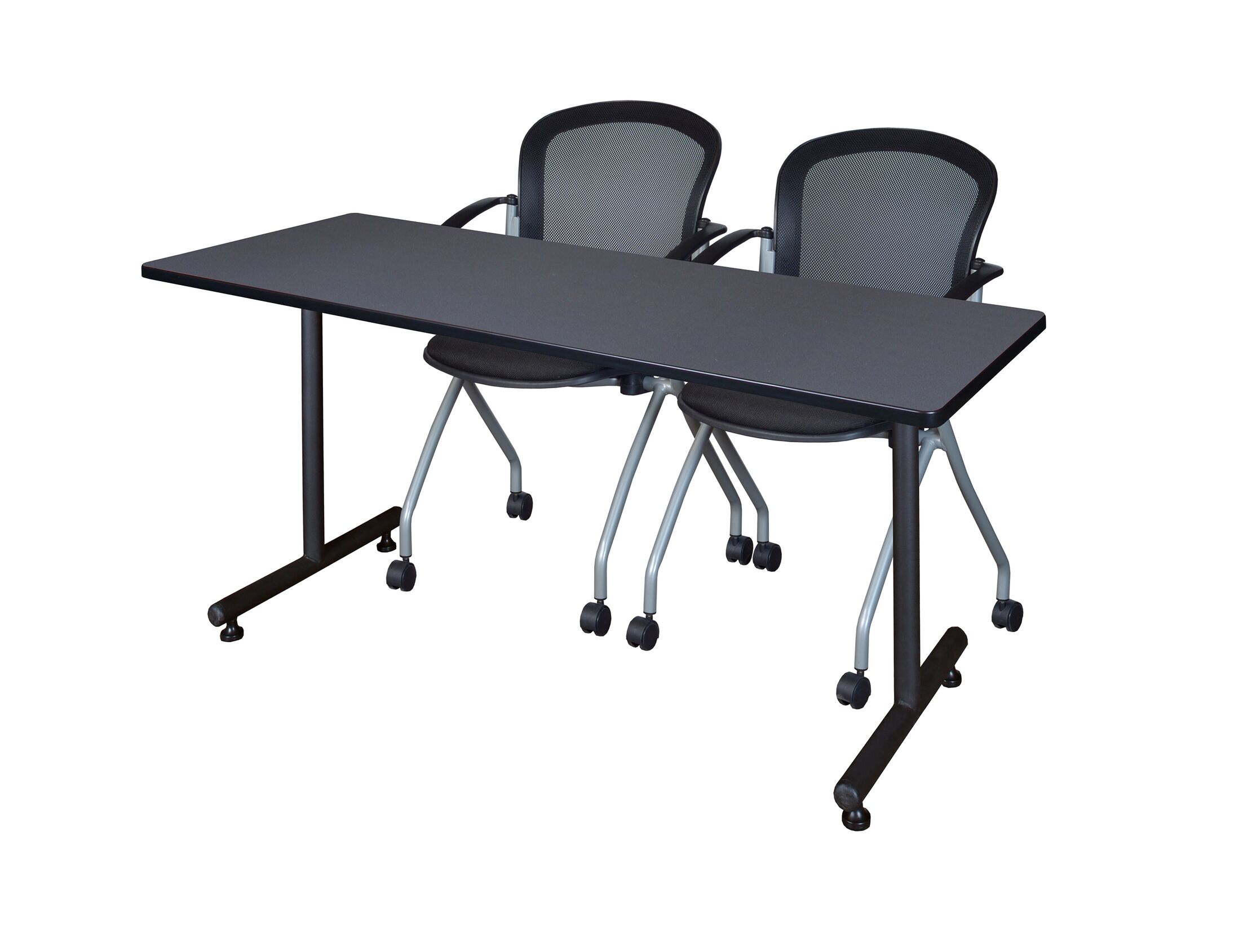Marin Training Table with Wheels Tabletop Finish: Gray, Size: 29