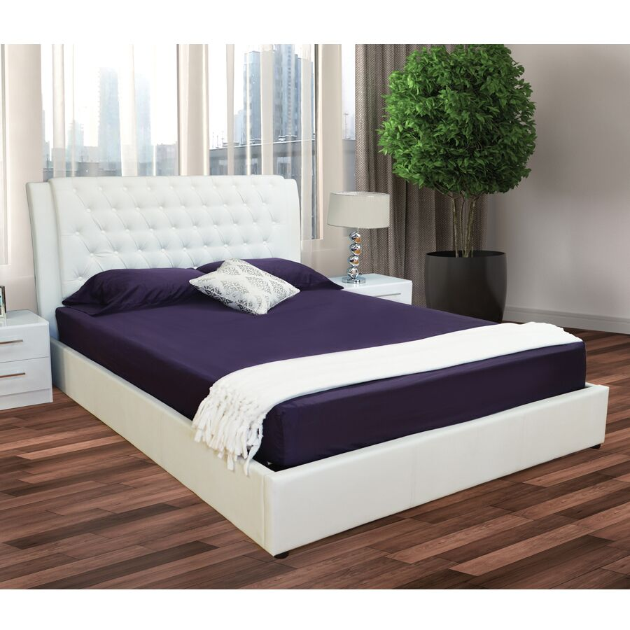 Burford Upholstered Storage Platform Bed Color: White, Size: Queen
