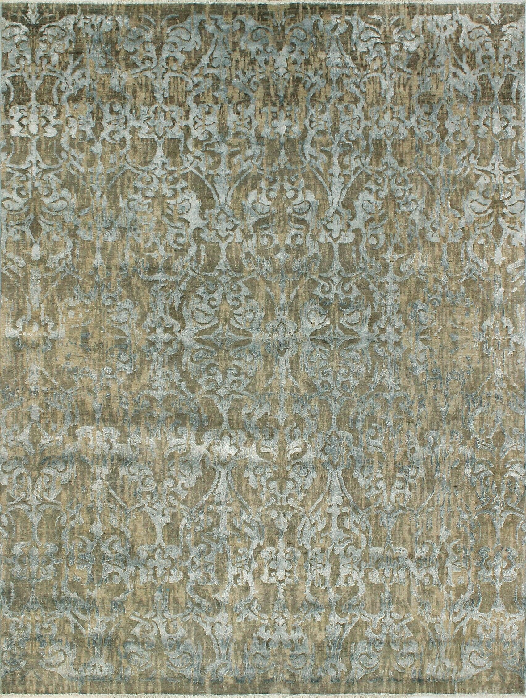 Stevan Hand-Knotted Wool Red Area Rug