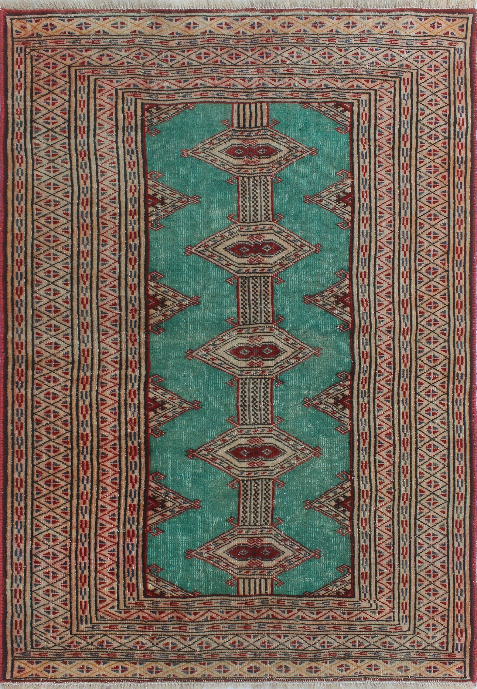 One-Of-A-Kind Brook Hand-Knotted Wool Red/Blue Area Rug