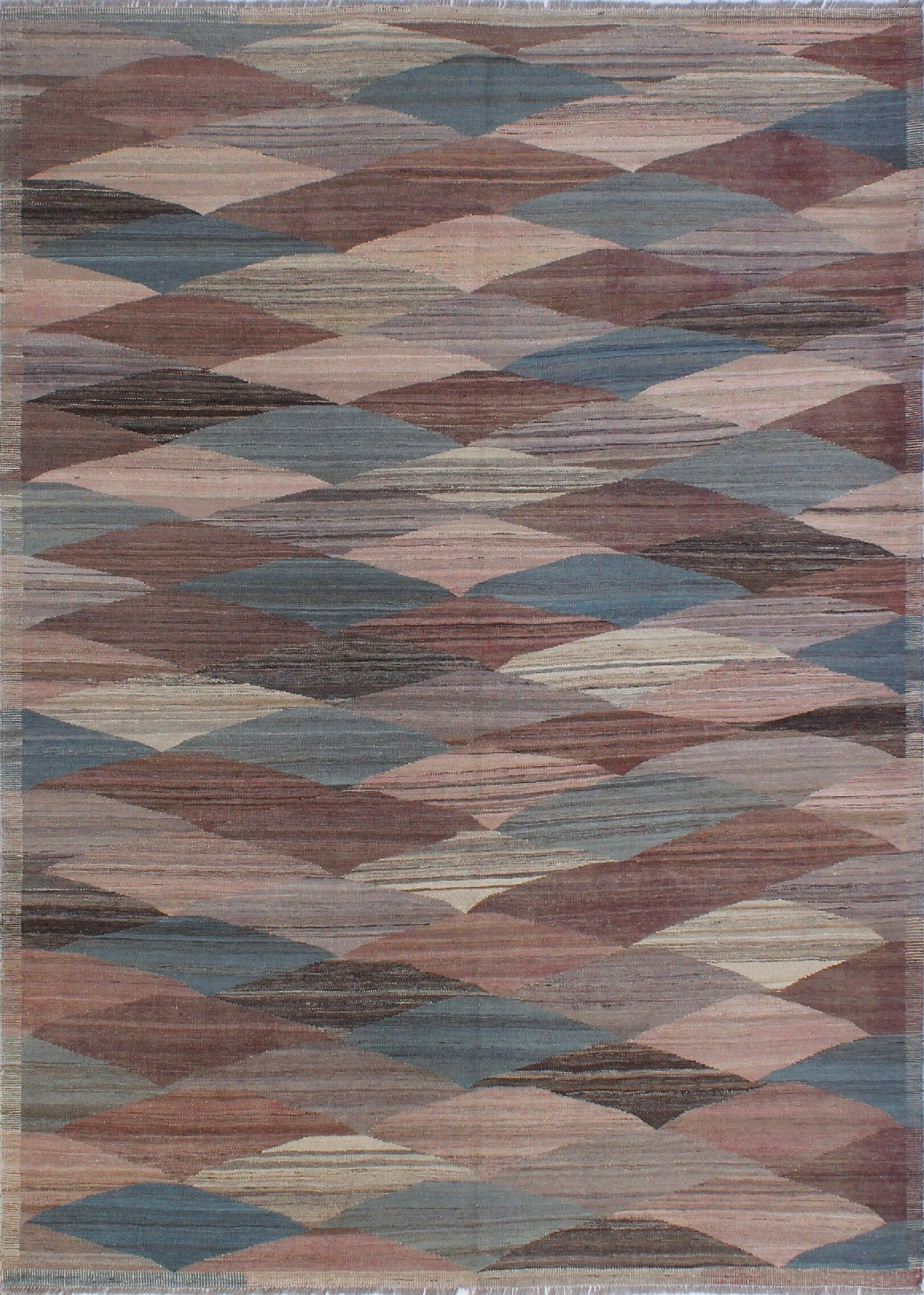 Howerton Hand-Knotted Wool Blue Area Rug