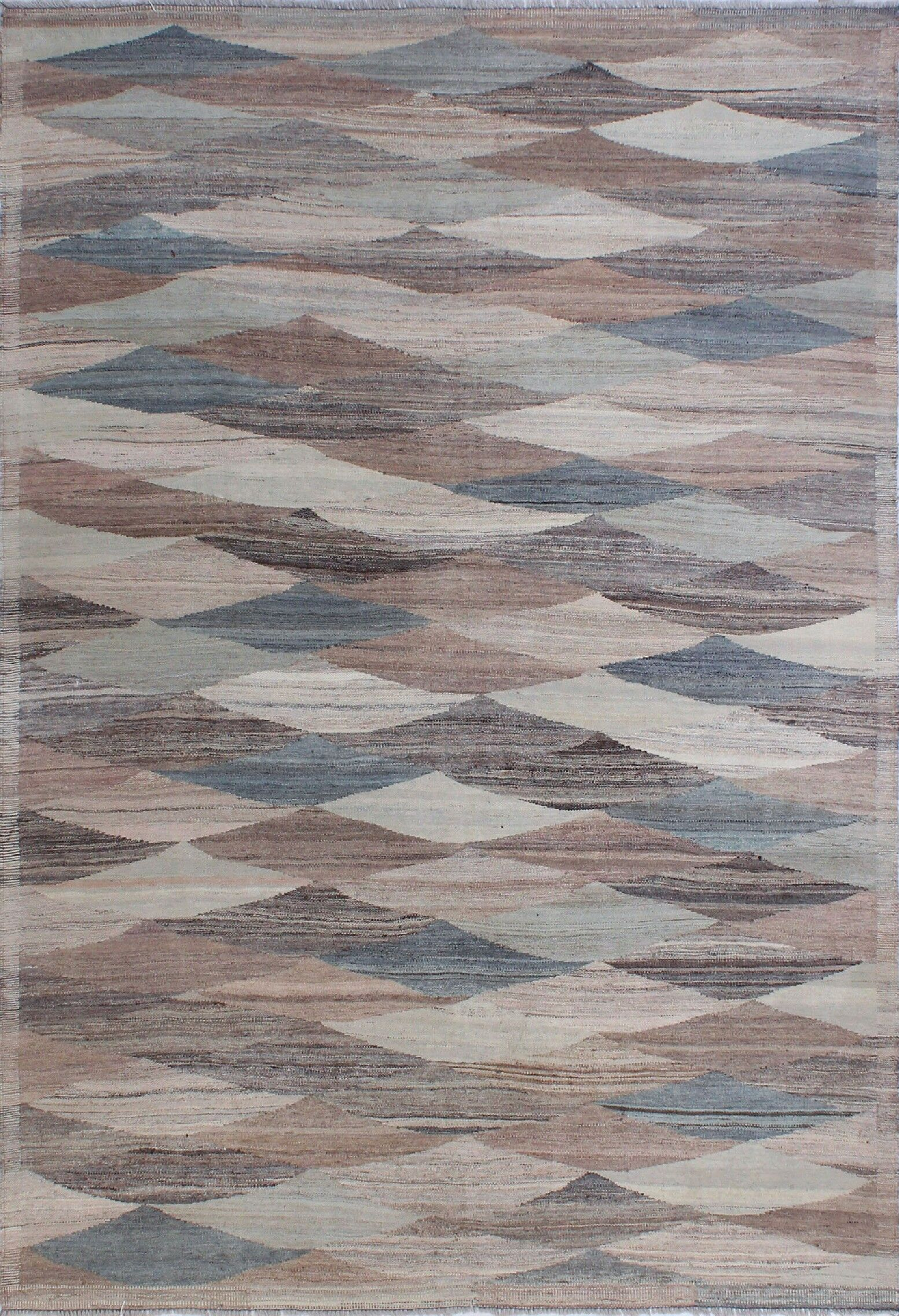 Howerton Hand-Knotted Wool Blue/Gray Area Rug