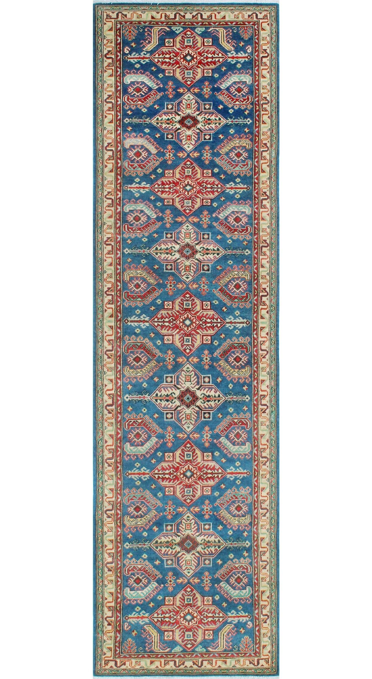 Sharpe Hand-Knotted Wool Blue Area Rug