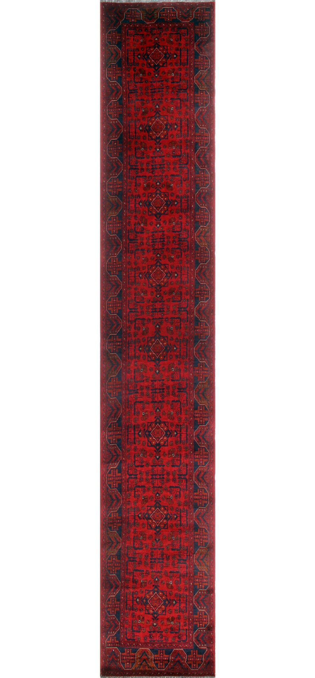 Robby Hand-Knotted Wool Red Area Rug