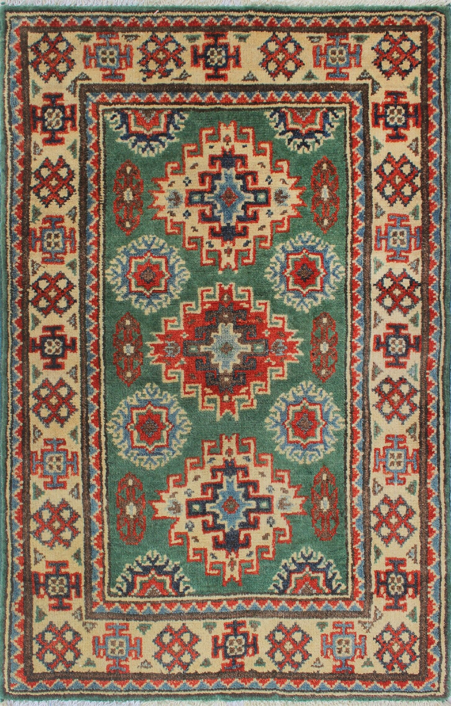 Sharpe Hand-Knotted Wool Green/Brown Area Rug