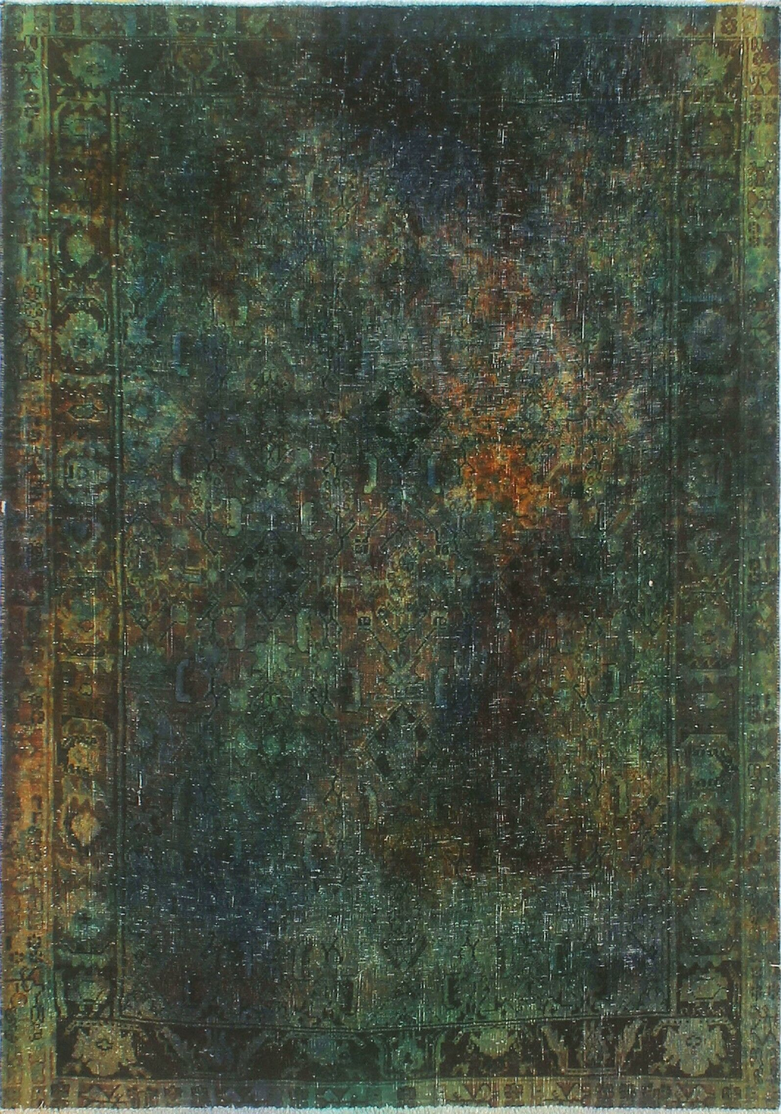 One-Of-A-Kind Velda Hand-Knotted Wool Done Area Rug