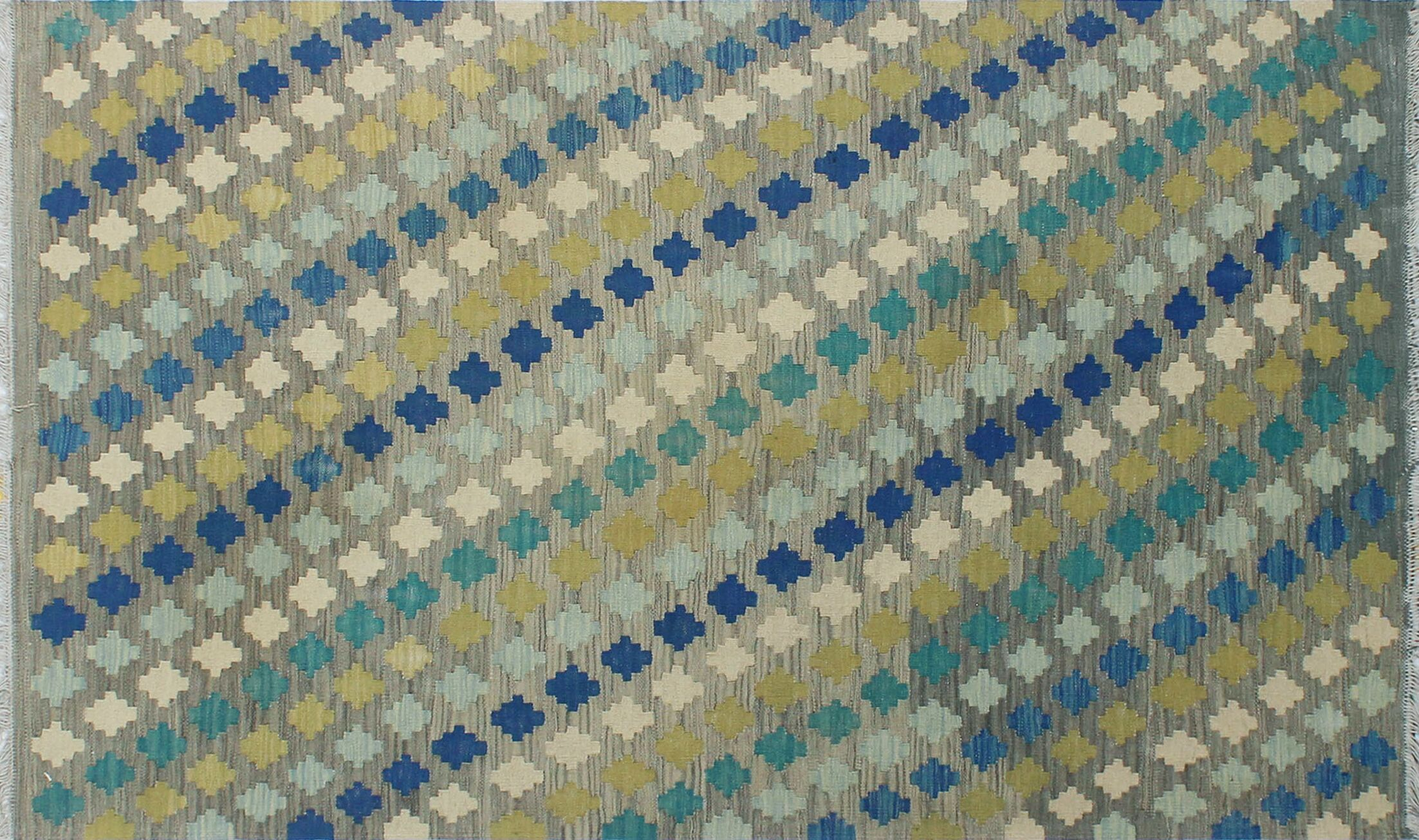 Corda Hand-Knotted Wool Blue/Gray Area Rug
