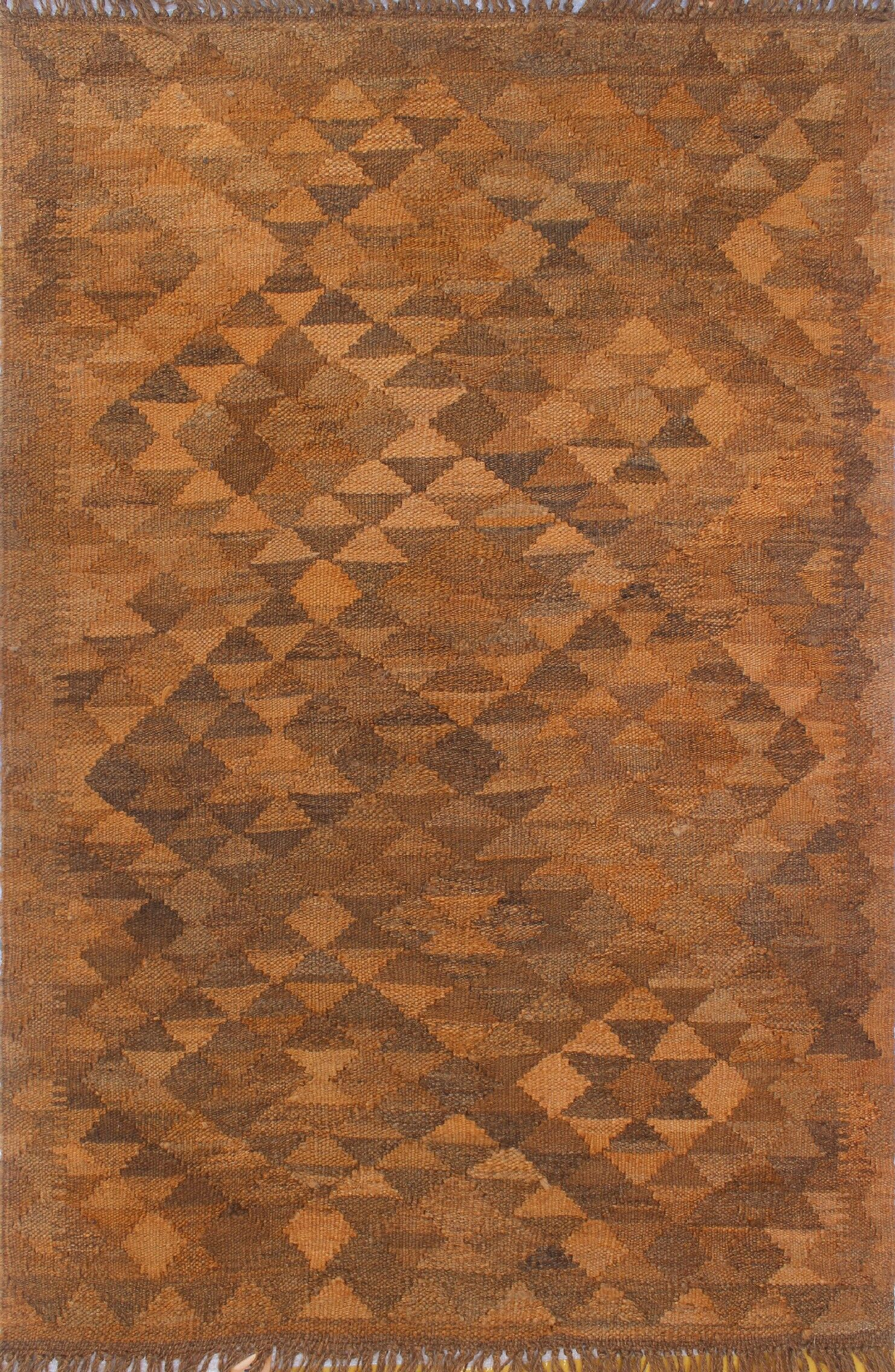 Earle Hand-Knotted Wool Dark Goldenrod Area Rug