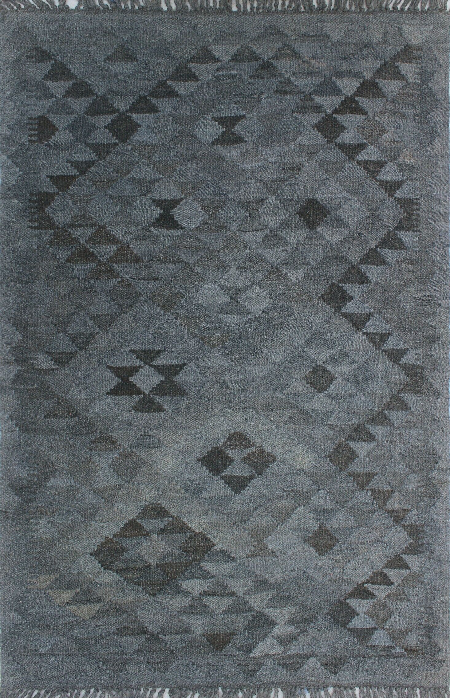 Earle Hand-Knotted Wool Gray Area Rug