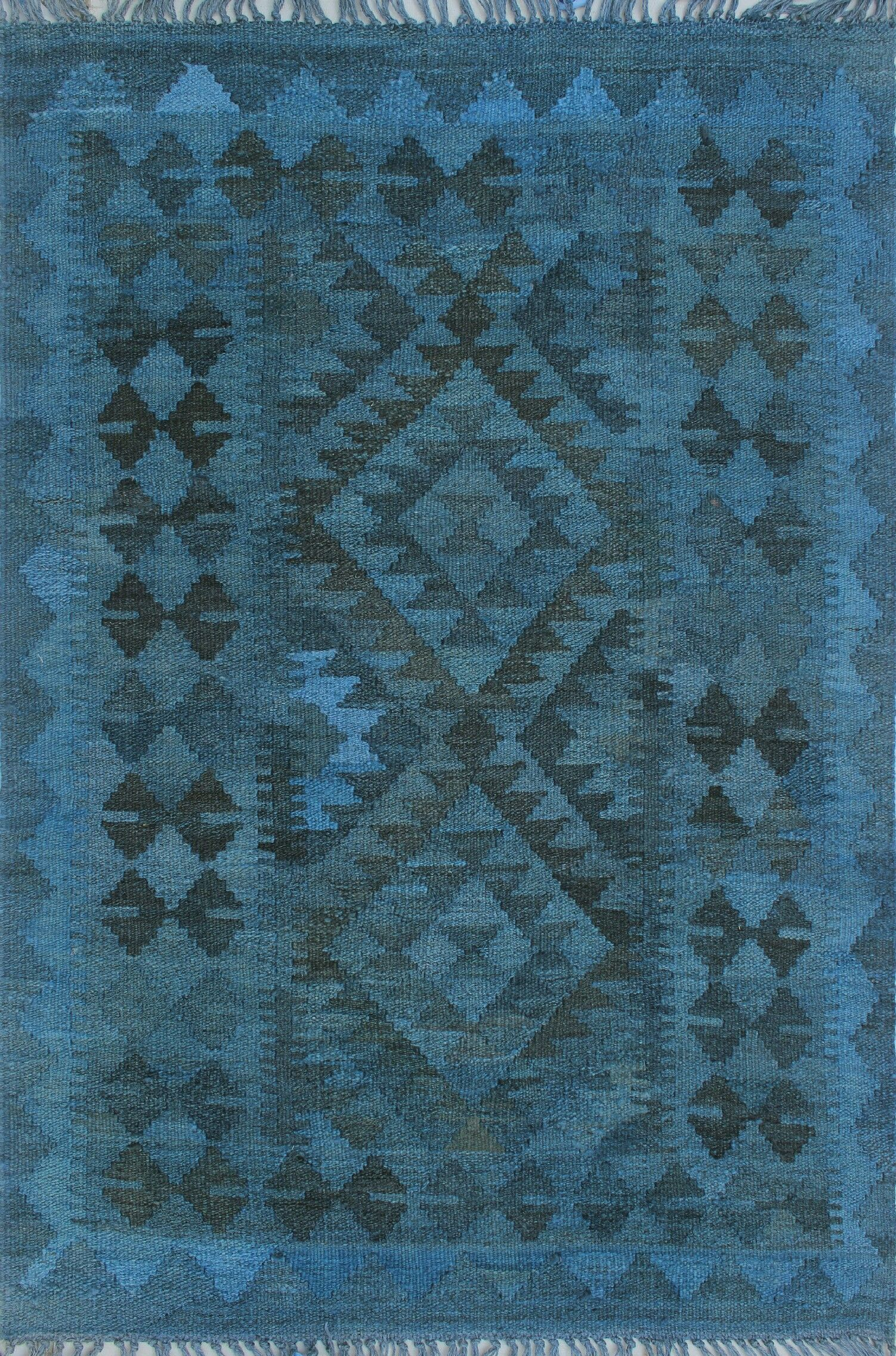 Earle Hand-Knotted Wool Blue Area Rug