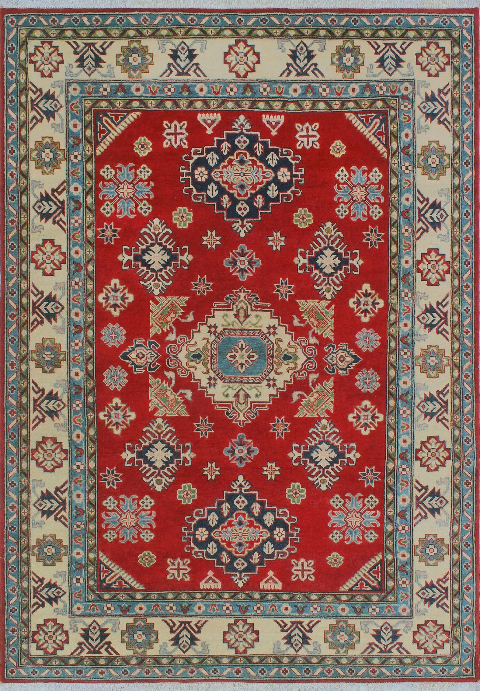 Sharpe Hand-Knotted Wool Red Area Rug