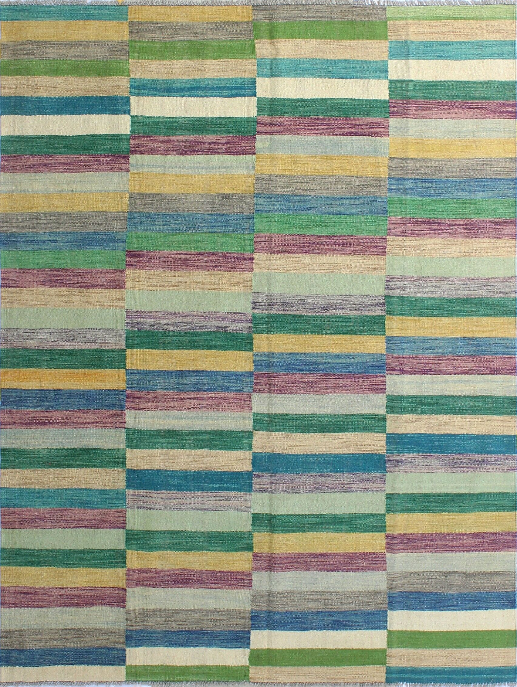 Dickie Hand-Knotted Wool Green/Beige Area Rug