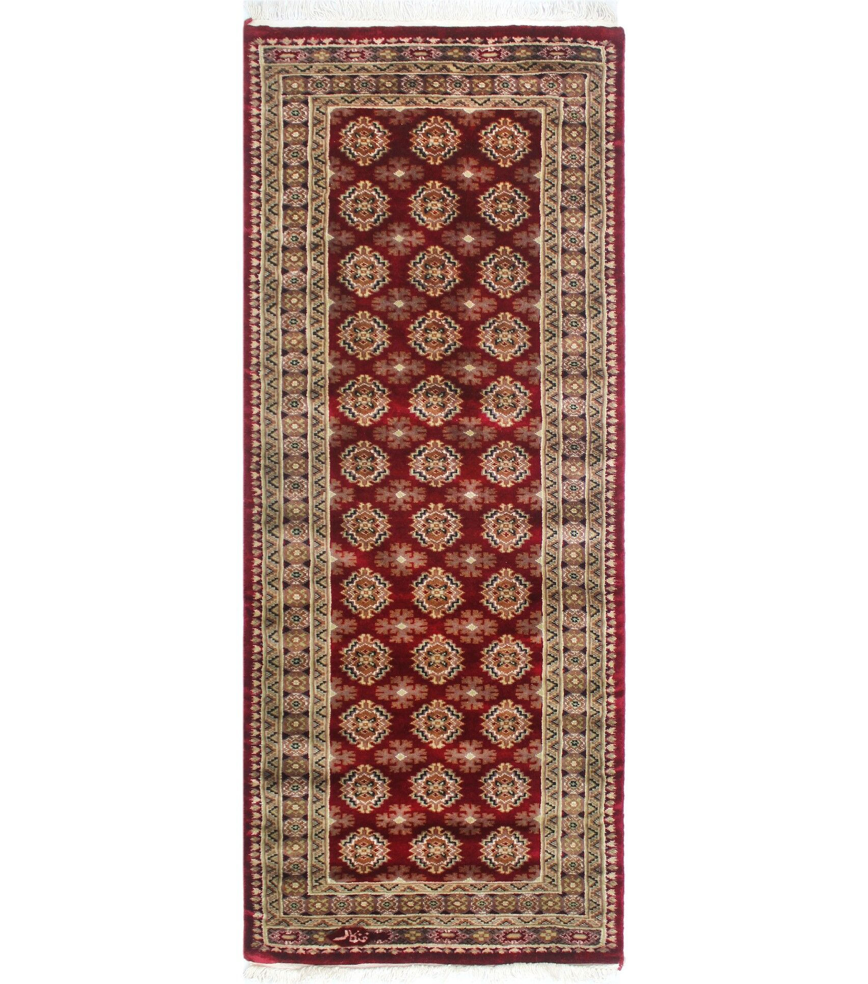 Urgeon Hand-Knotted Wool Red Area Rug