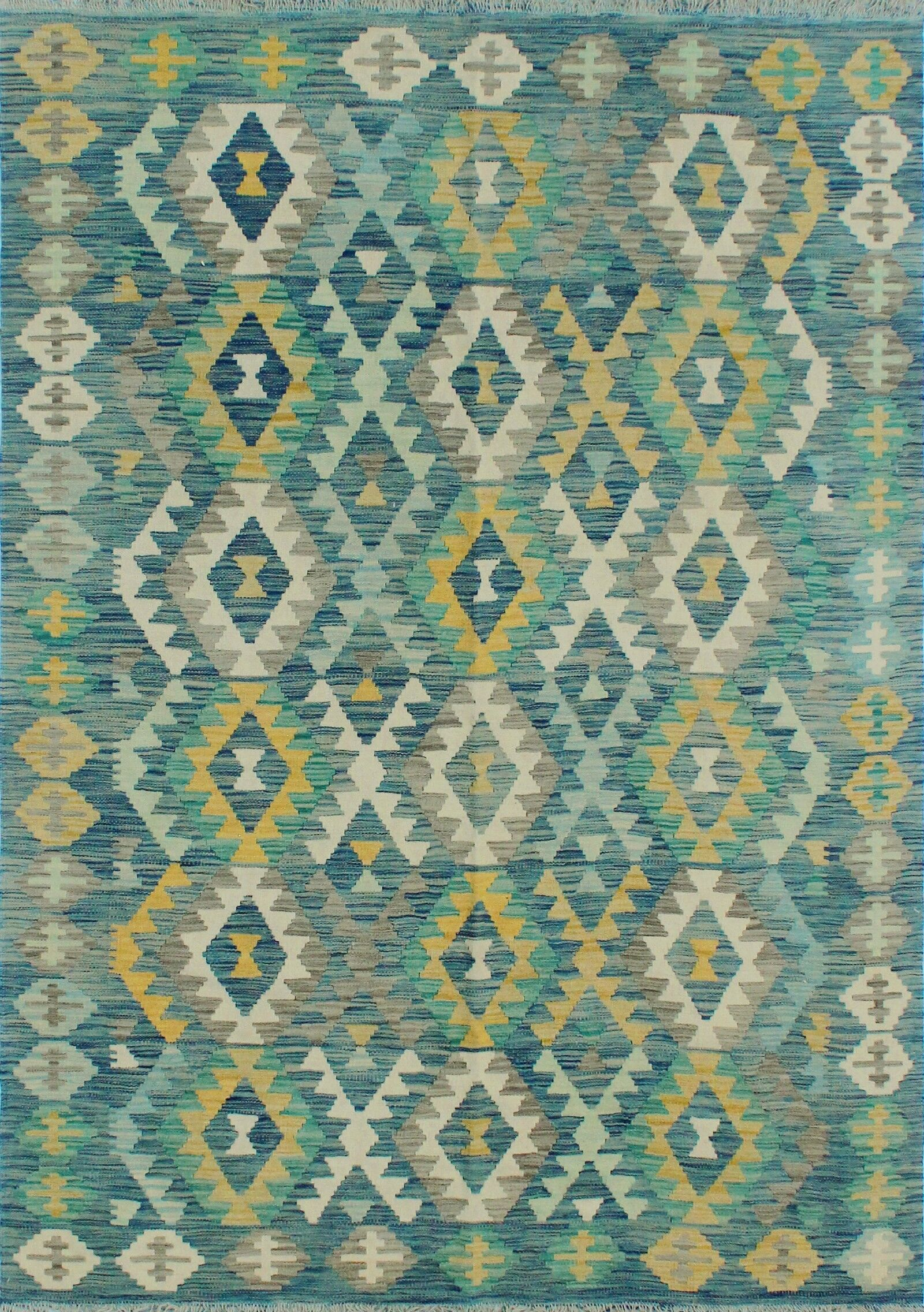 Corda Hand-Knotted Wool Light Green/Yellow Area Rug