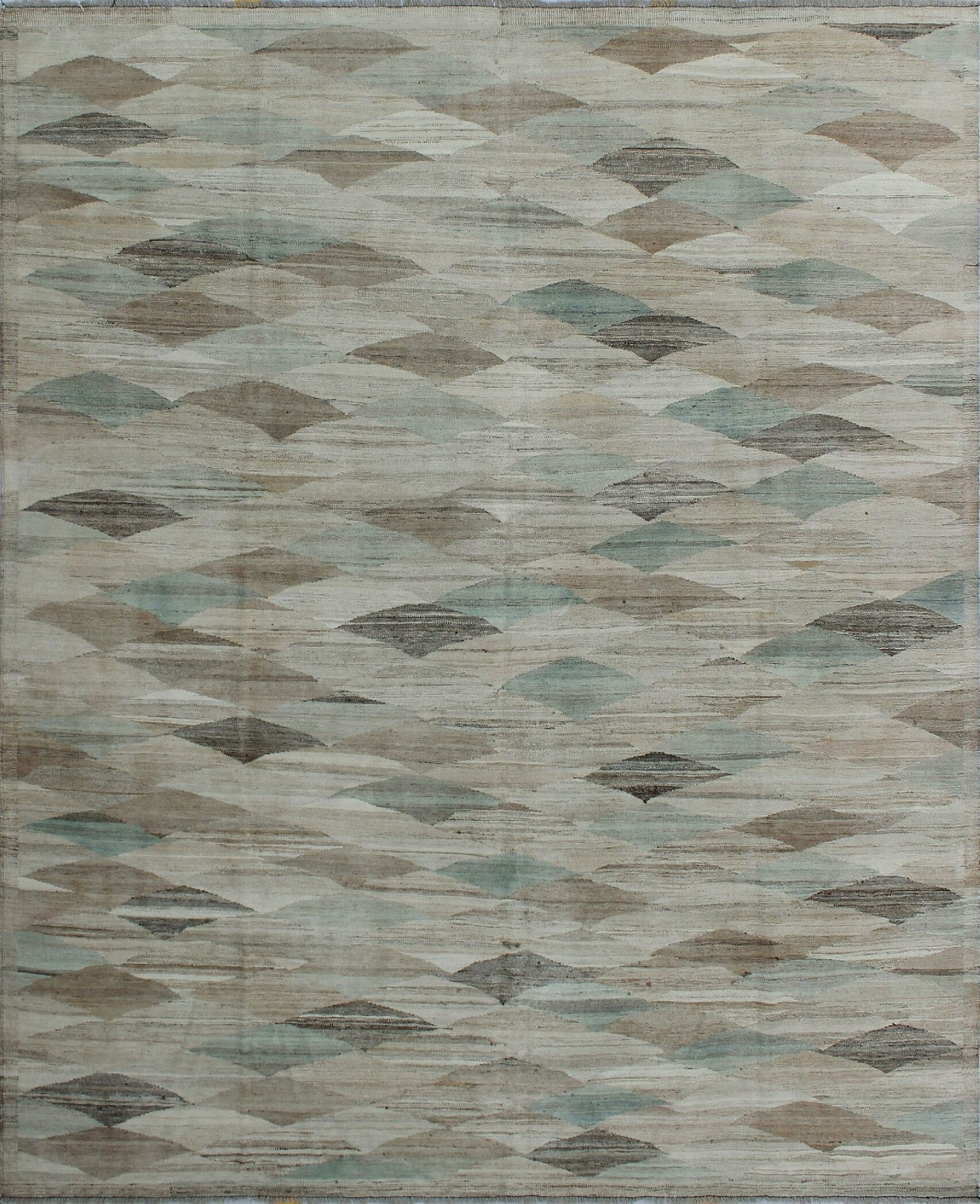 Howerton Hand-Knotted Wool Gray Area Rug