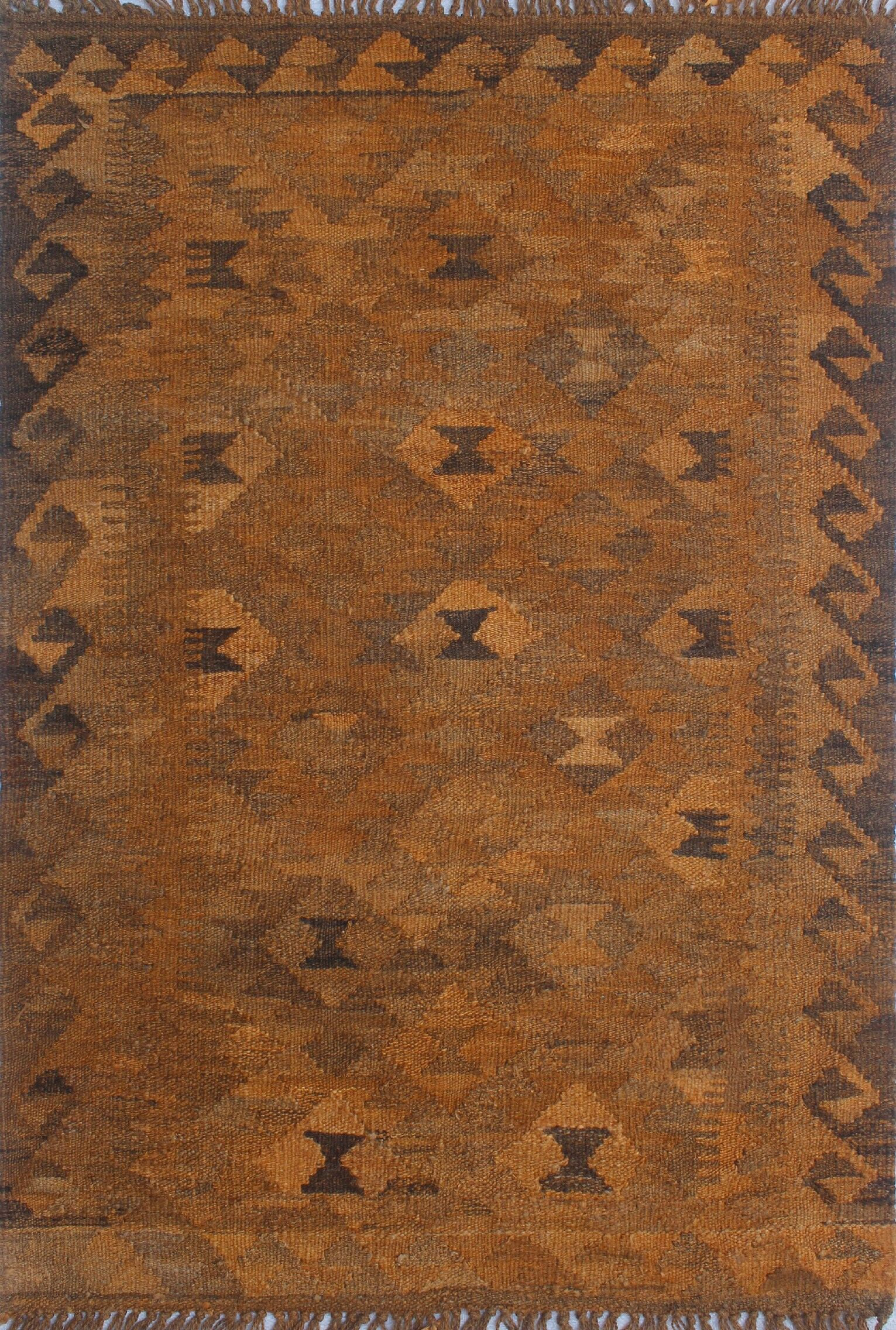 Earle Hand-Knotted Wool Brown Area Rug