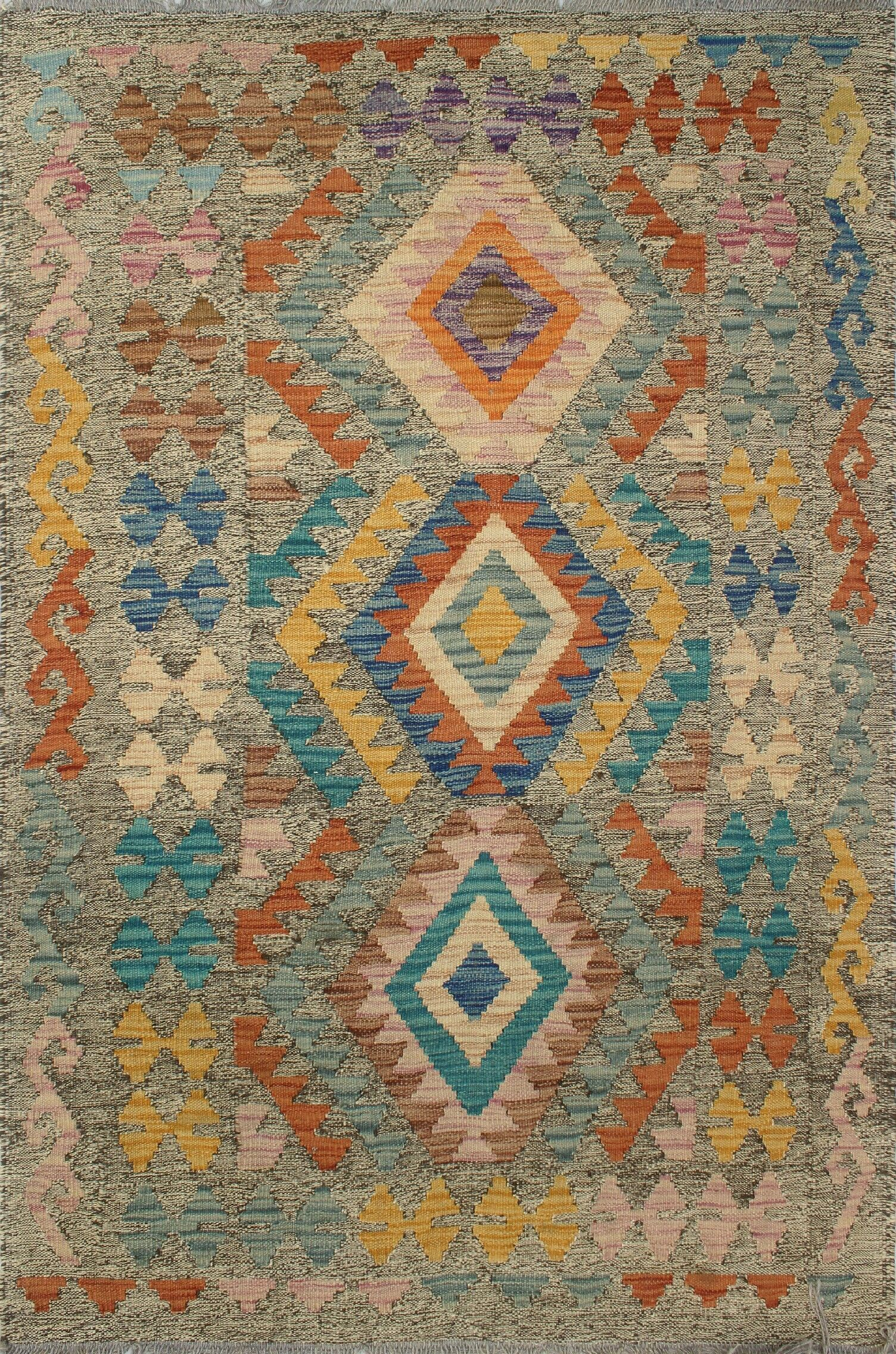 Corda Hand-Knotted Wool Done Area Rug