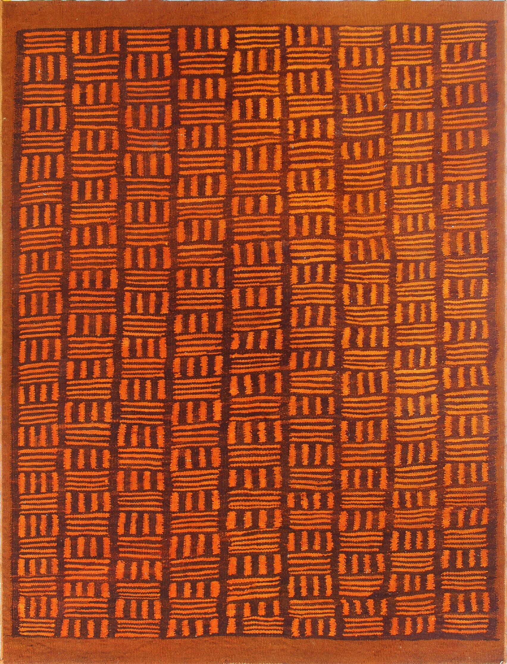 Earle Hand-Knotted Wool Rust Area Rug