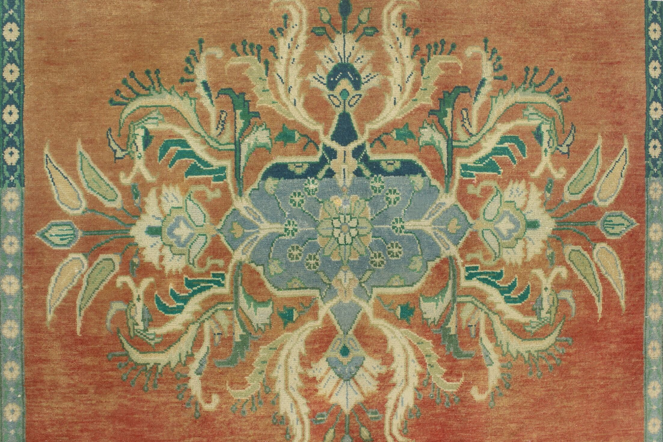 One-Of-A-Kind Brook Hand-Knotted Wool Rust Area Rug