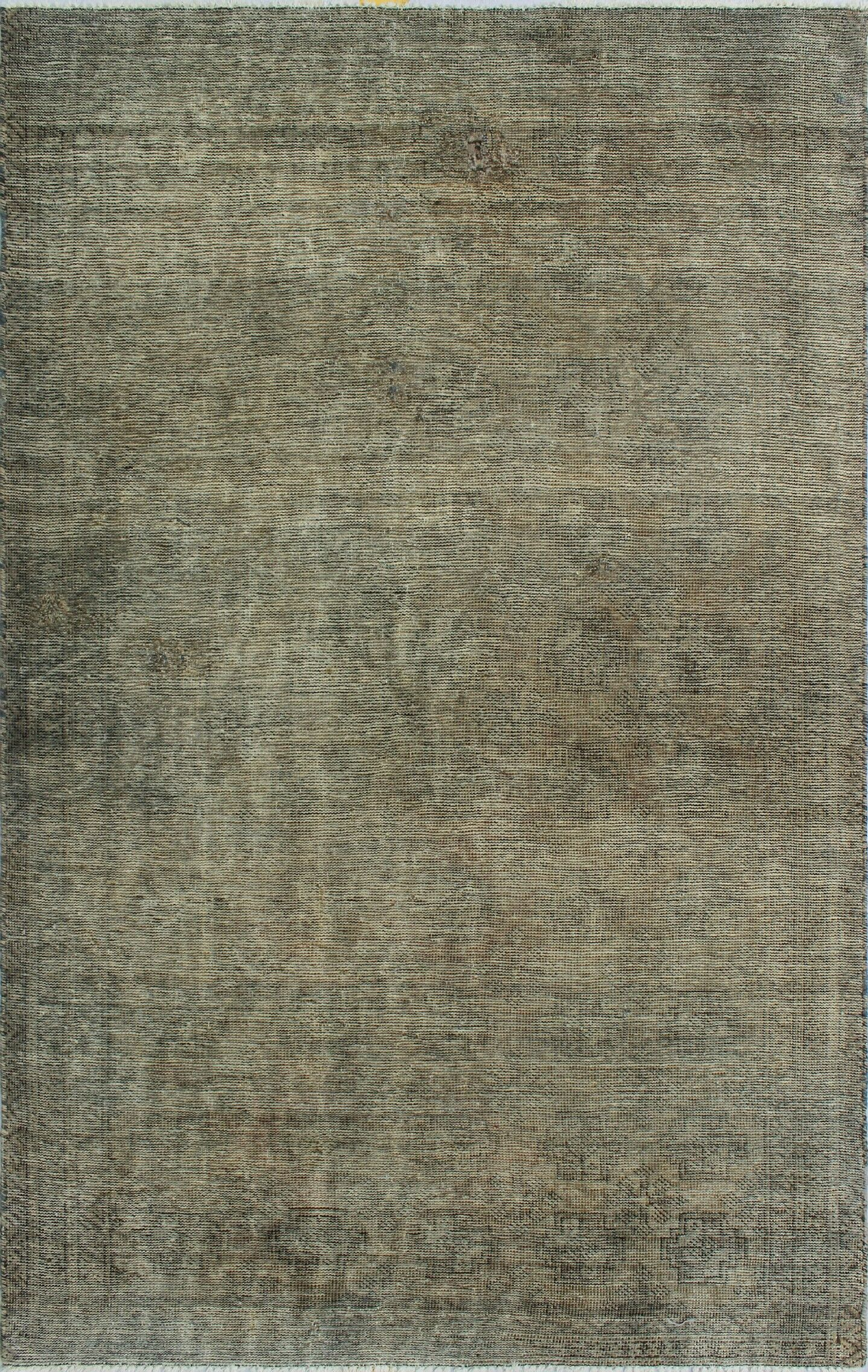 One-Of-A-Kind Brook Hand-Knotted Wool Gray Area Rug