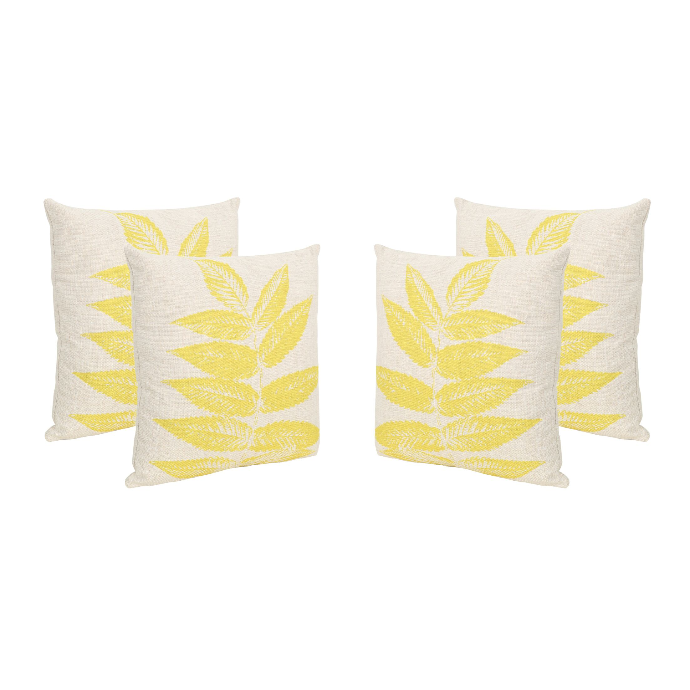 Woodburn Leaves Outdoor Throw Pillow