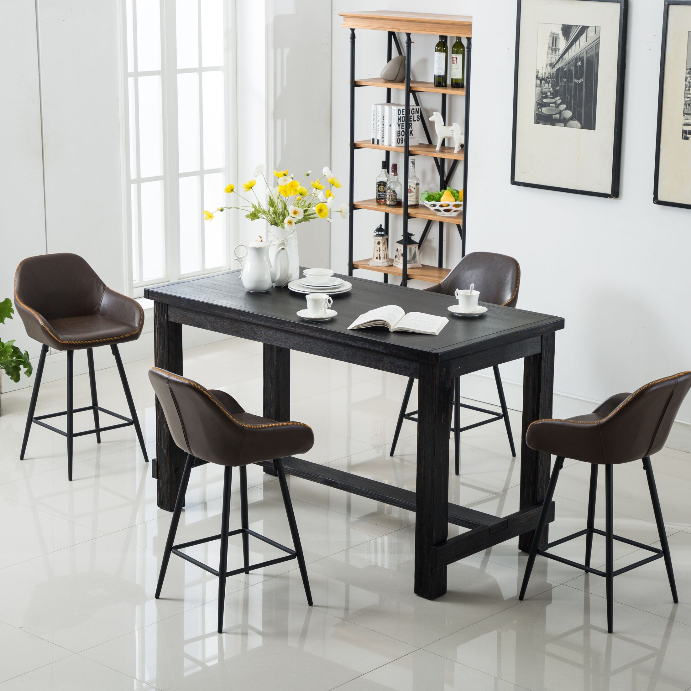 Dining Table Sets Shoemaker 5 Piece Counter Height Dining Set