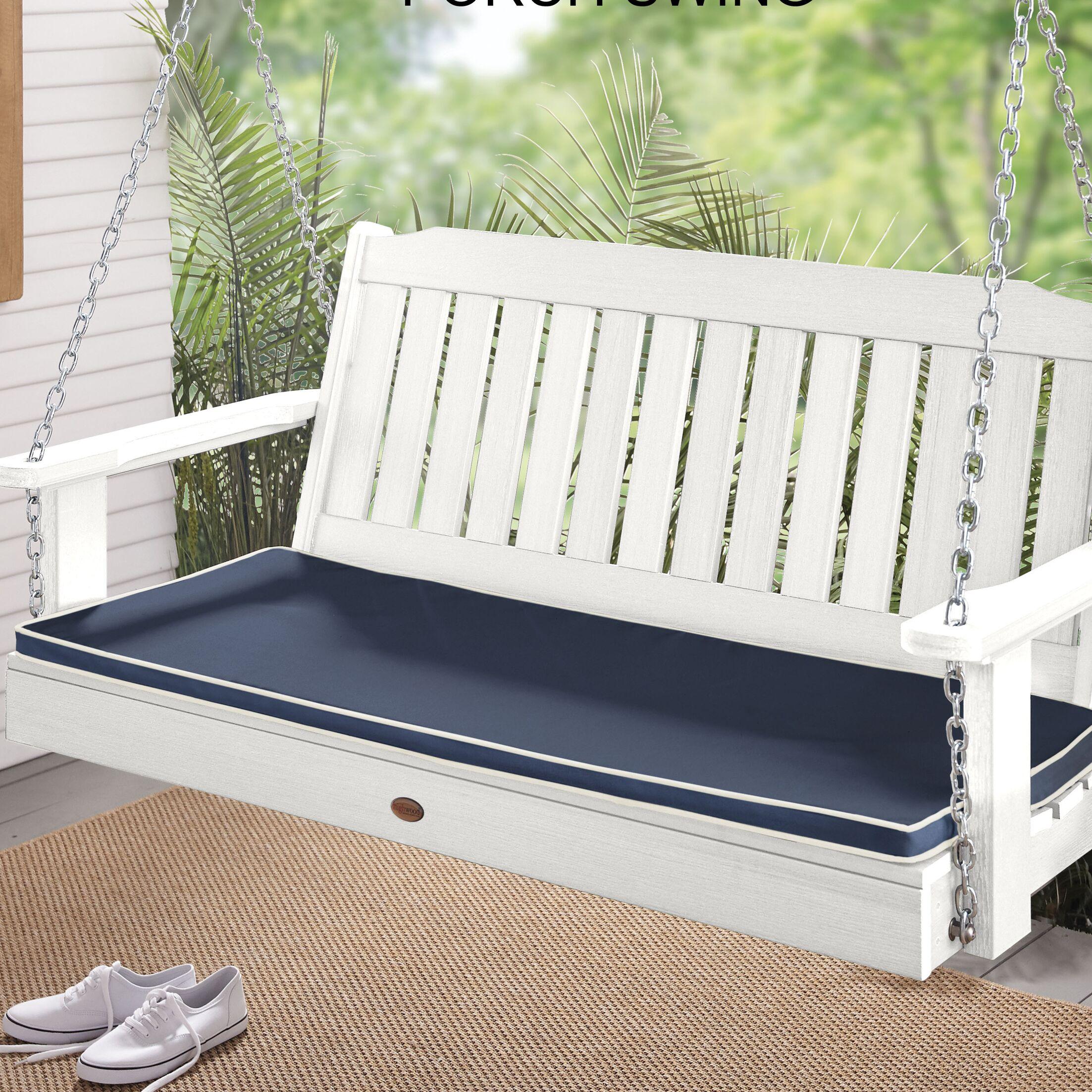 Indoor/Outdoor Sunbrella Bench Cushion Fabric: Canvas Navy, Size: 1