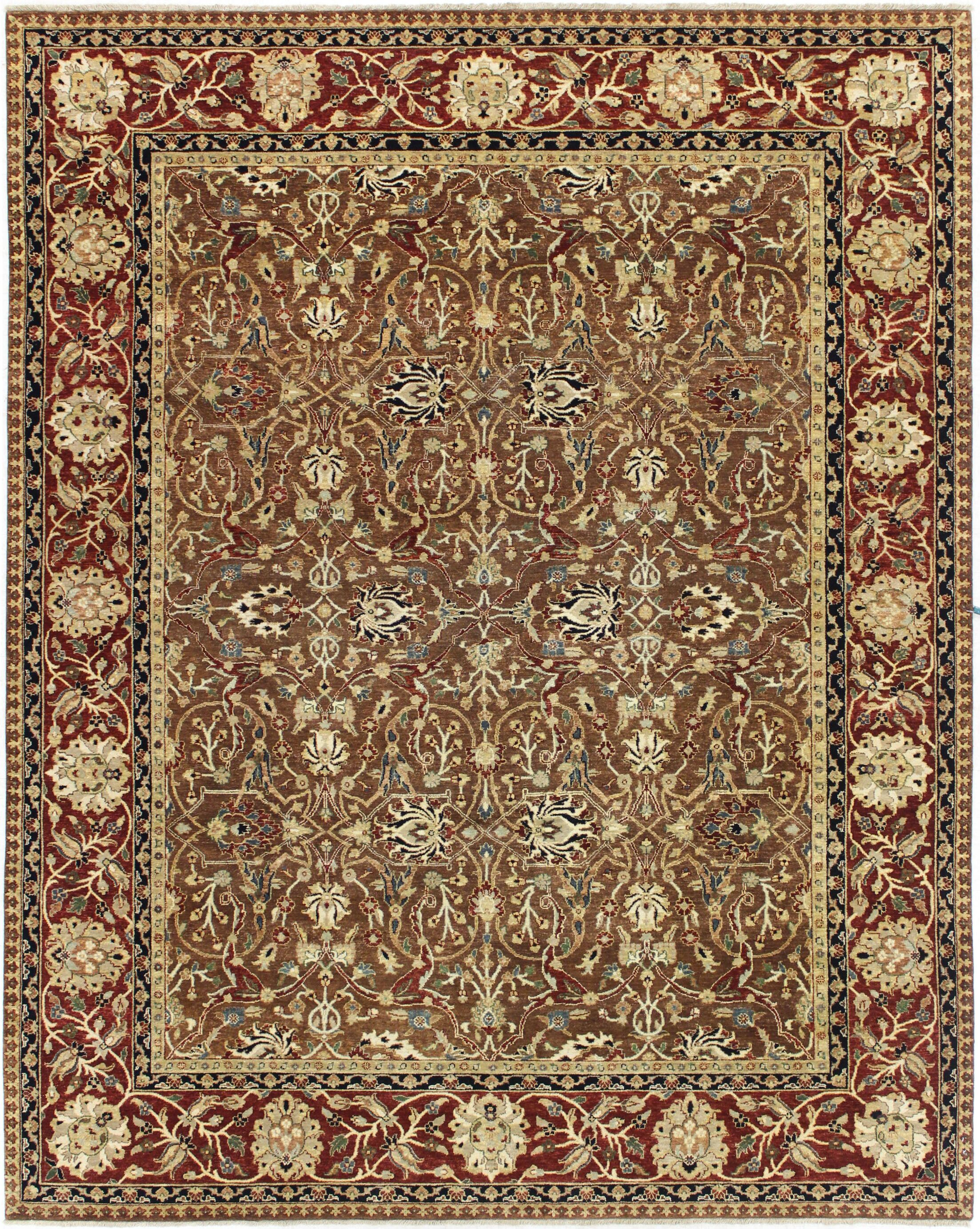 One-of-a-Kind Brokaw Genuine Oriental Hand-Knotted Wool Brown Area Rug