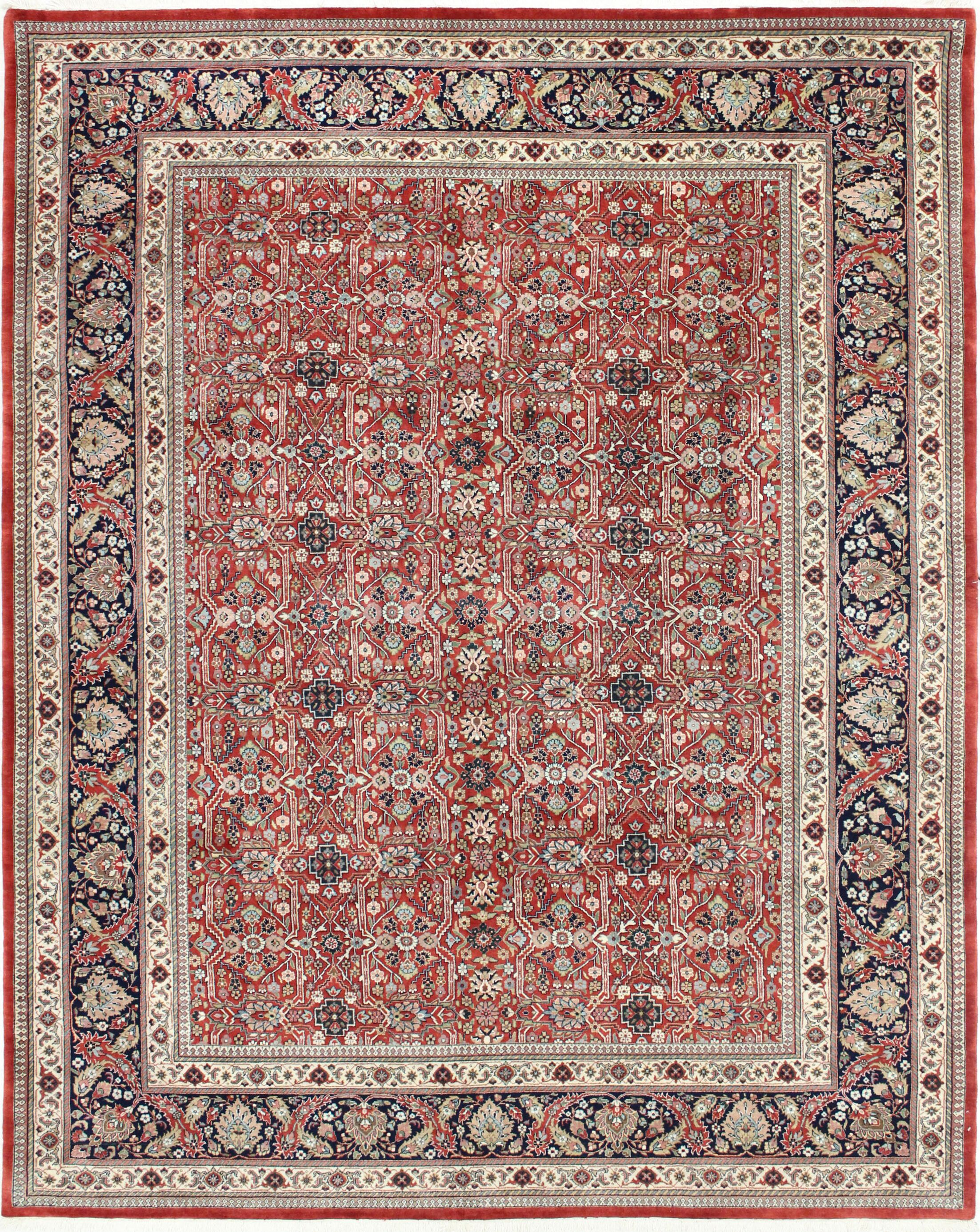 One-of-a-Kind Bronson Genuine Oriental Hand-Knotted Wool Red Area Rug
