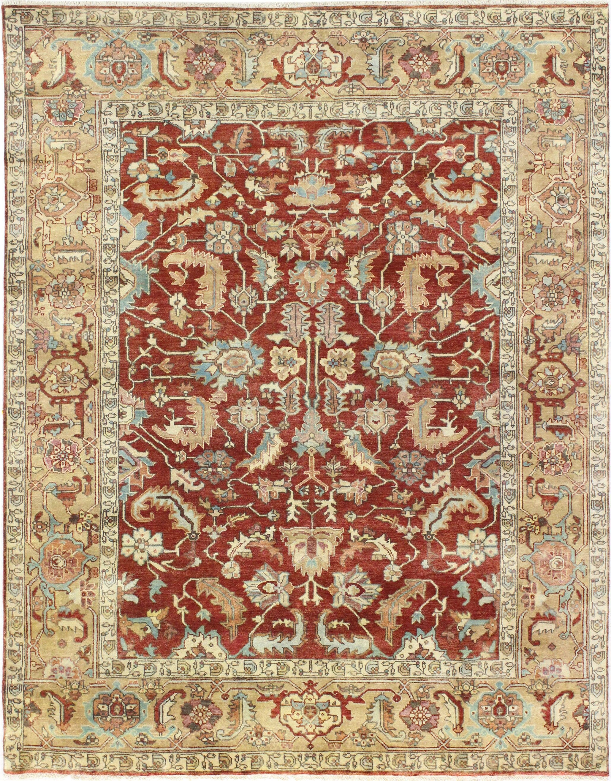 One-of-a-Kind Broken Hill Genuine Oriental Hand-Knotted Wool Red/Brown Area Rug
