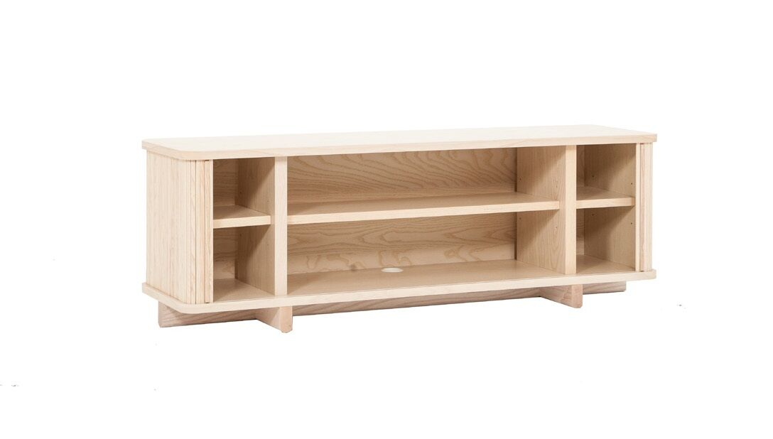 Tambour TV Stand Color: Ash, Width of TV Stand: 86