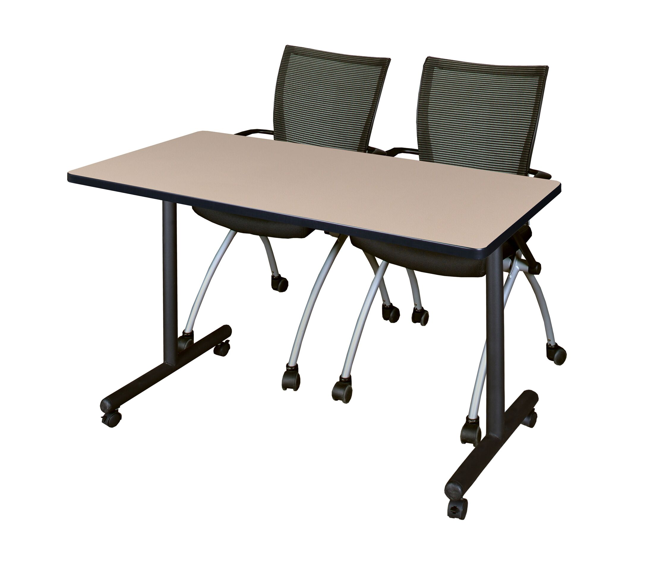 Marin Mobile Training Table Tabletop Finish: Beige, Size: 29