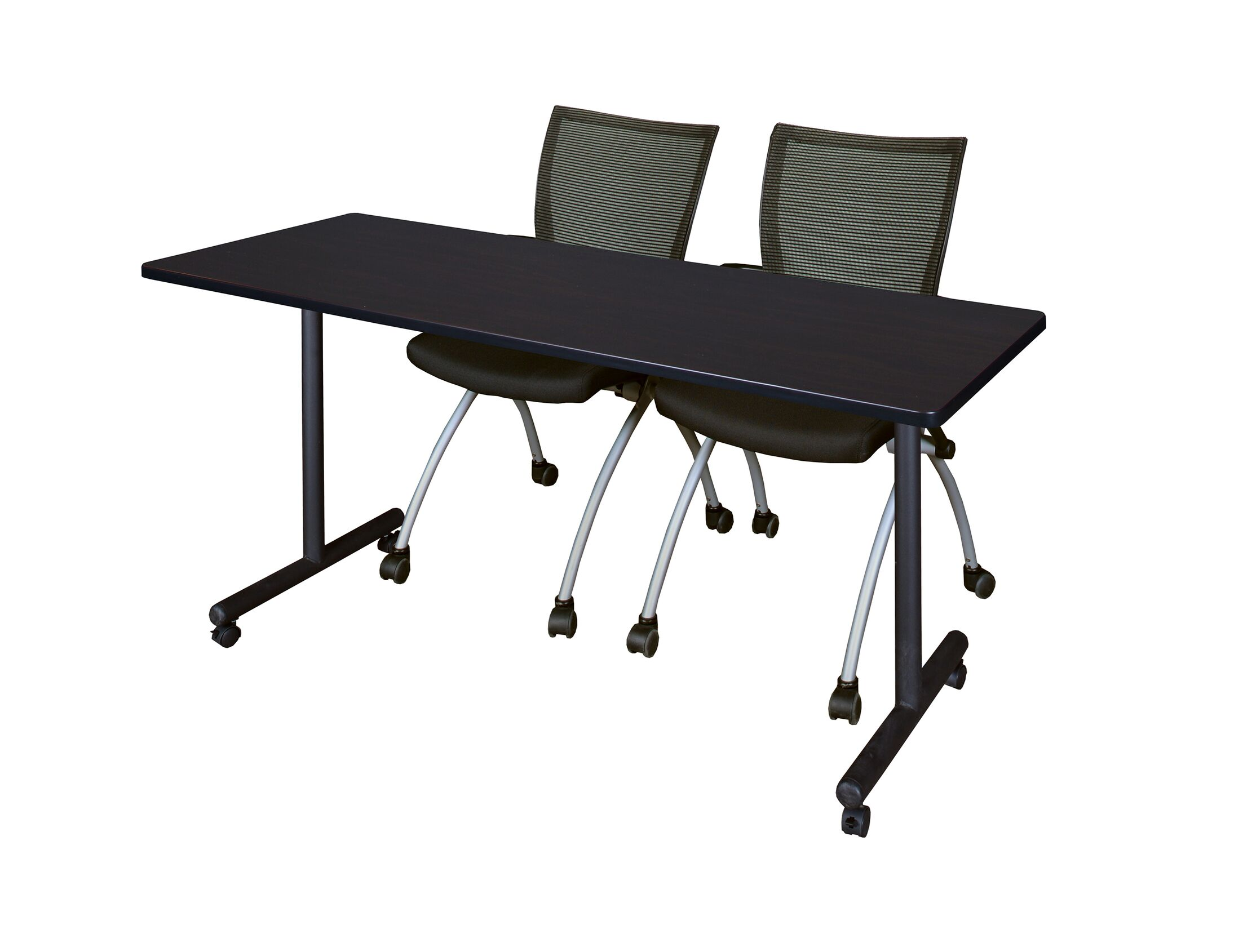 Marin Mobile Training Table Tabletop Finish: Mocha Walnut, Size: 29