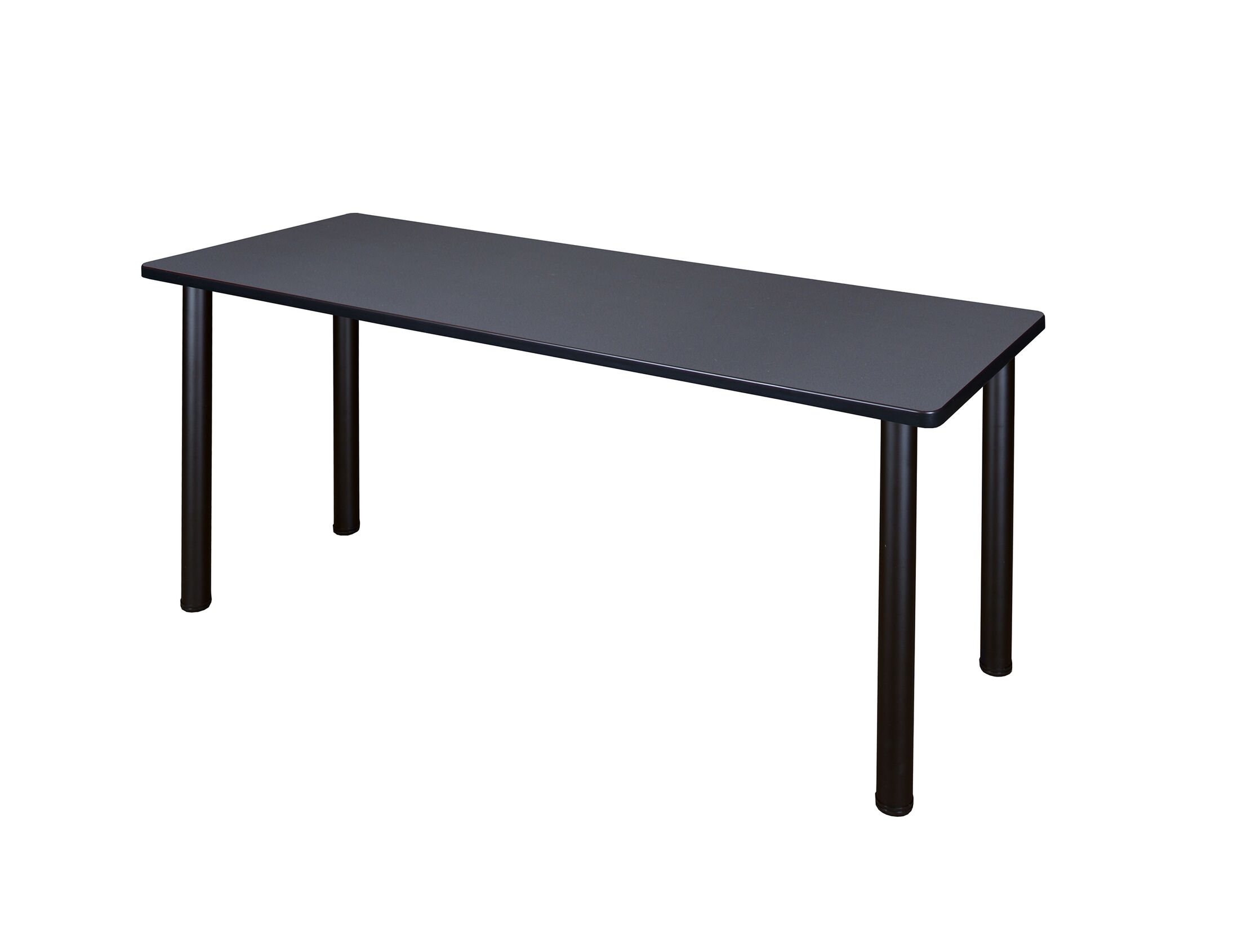 Leiser Training Table Tabletop Finish: Gray, Base Finish: Black, Size: 29