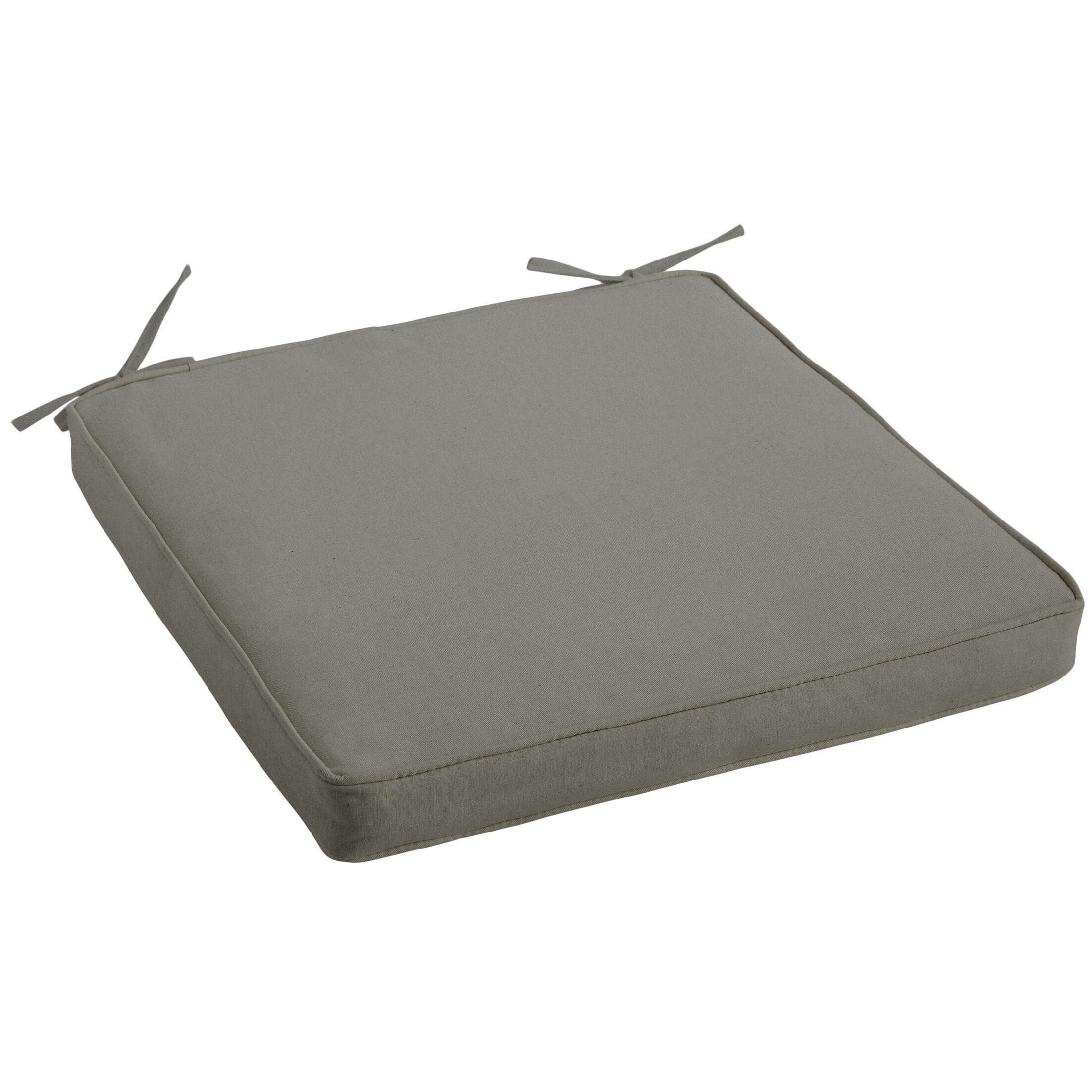 Indoor/Outdoor Sunbrella Dining Chair Cushion Fabric: Canvas Charcoal