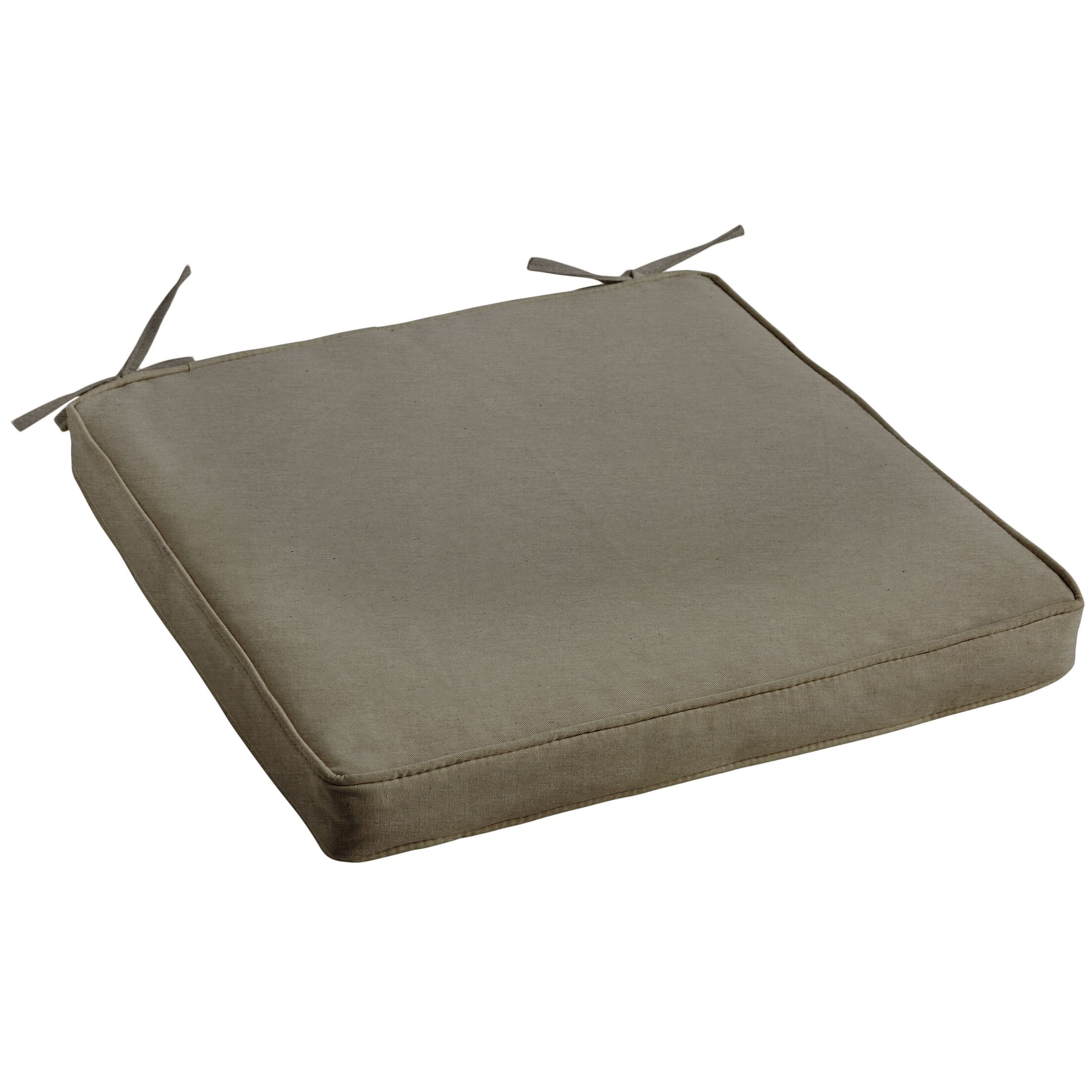 Indoor/Outdoor Sunbrella Dining Chair Cushion Fabric: Canvas Taupe