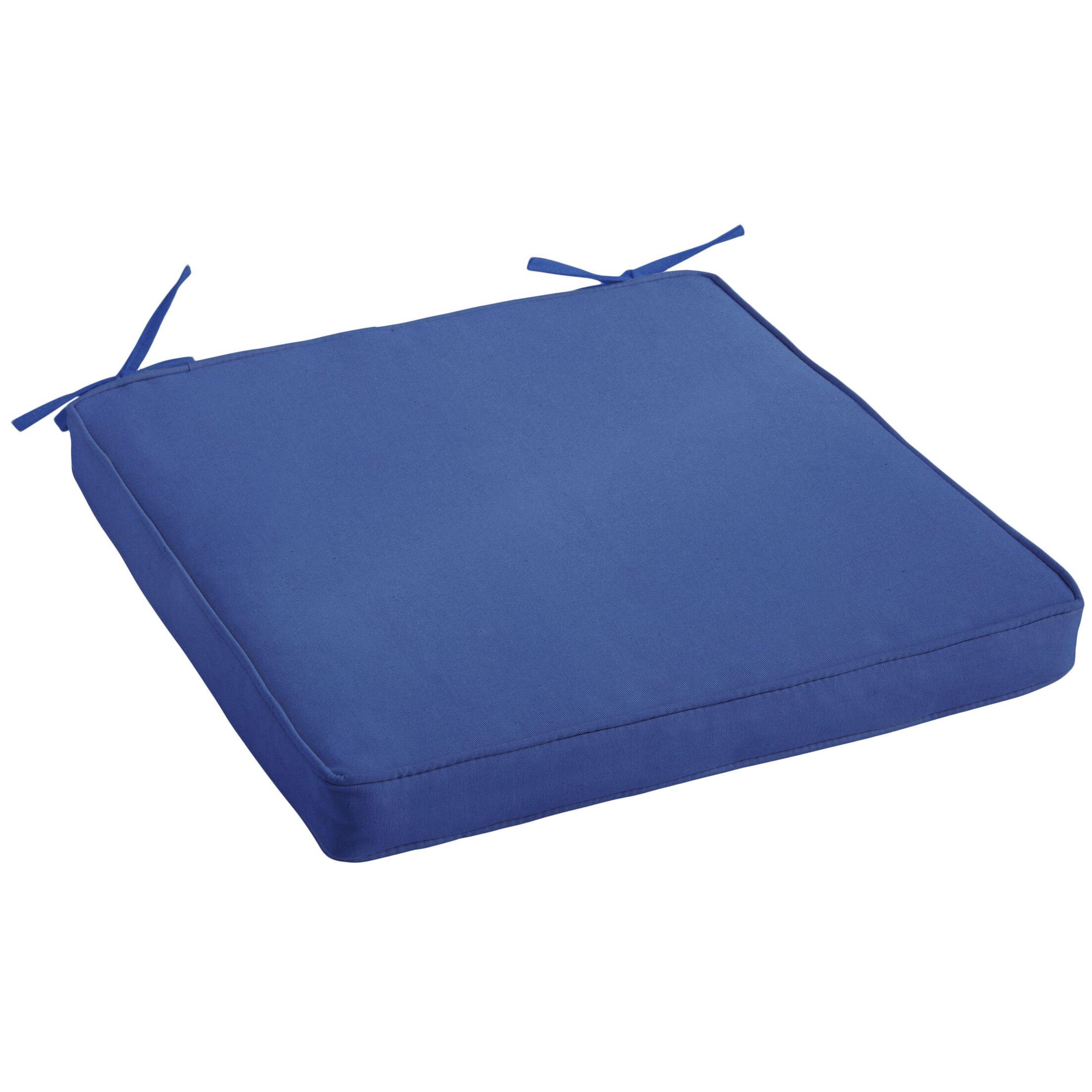 Indoor/Outdoor Sunbrella Dining Chair Cushion Fabric: Canvas True Blue