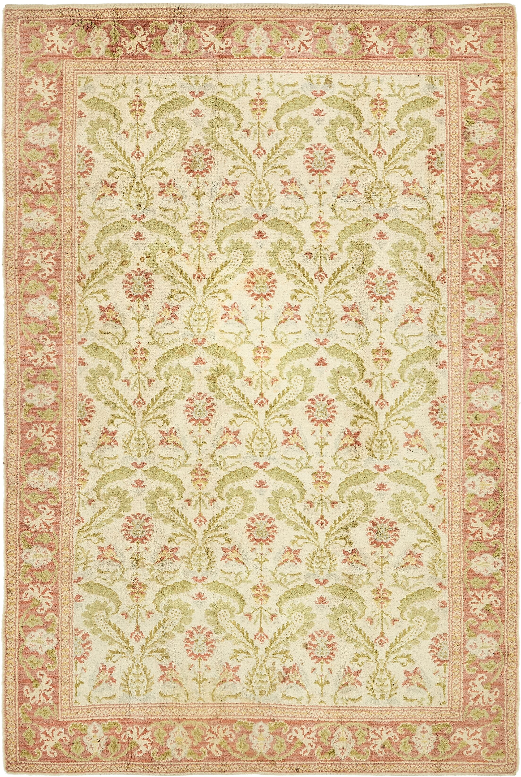 One-of-a-Kind Breckenridge Hand-Knotted Wool Cream Area Rug