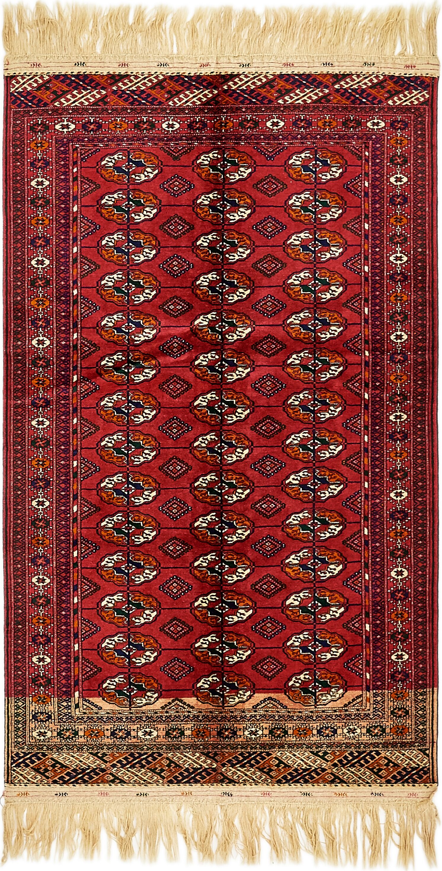 One-of-a-Kind Bunceton Hand-Knotted Wool Red Area Rug