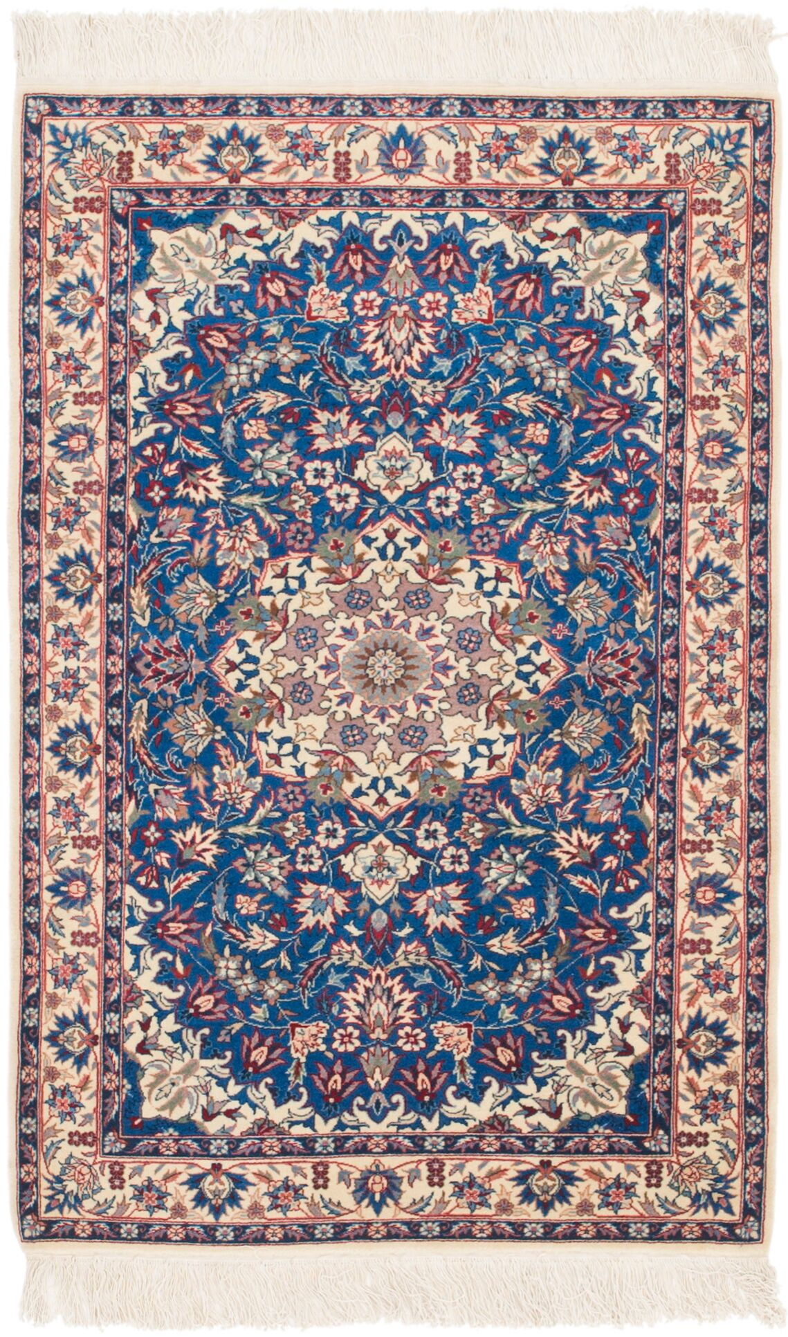 One-of-a-Kind Palomo Hand-Knotted 3' x 5' Wool Blue/Cream Area Rug